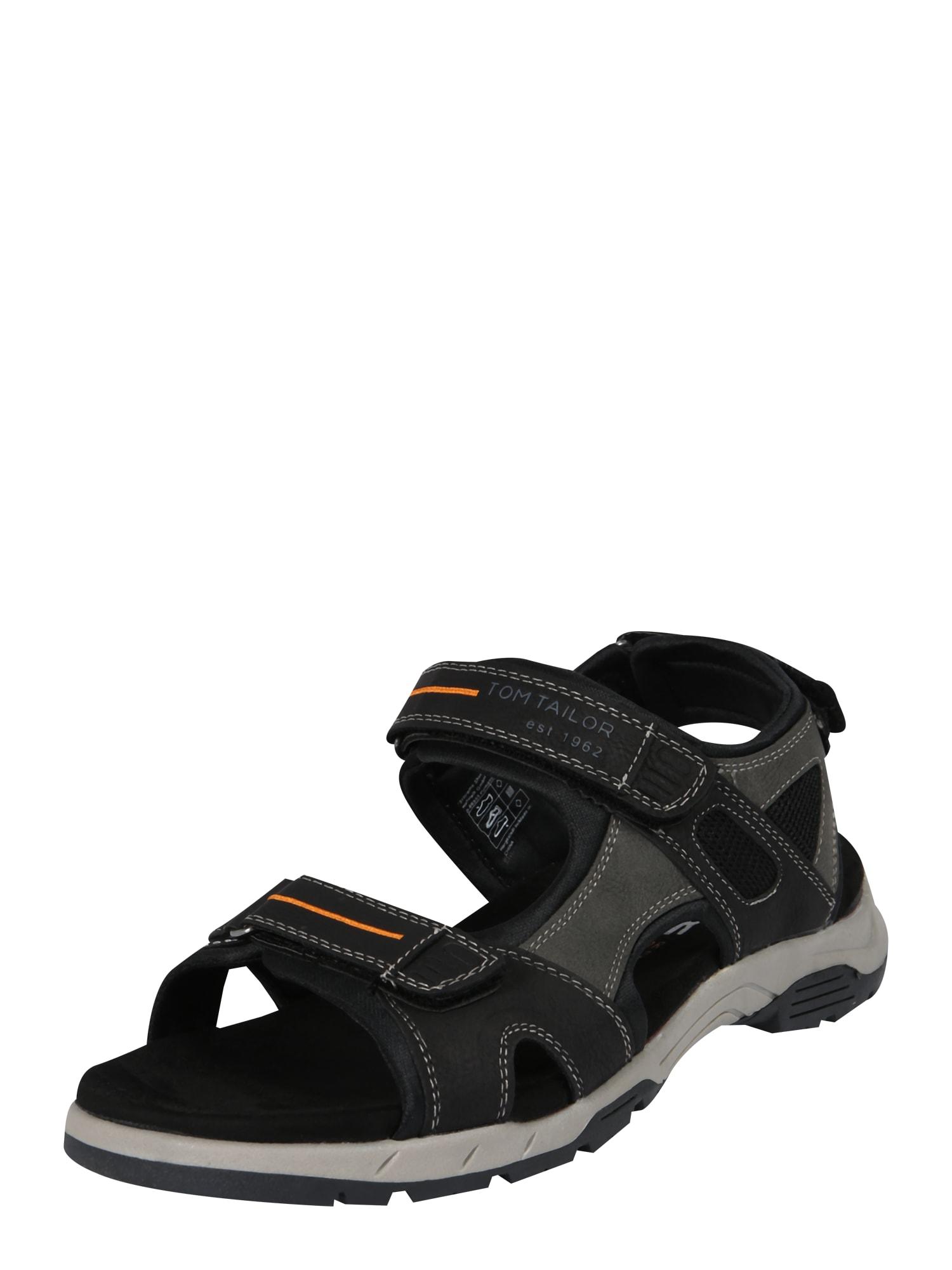 Trekingové sandály černá TOM TAILOR