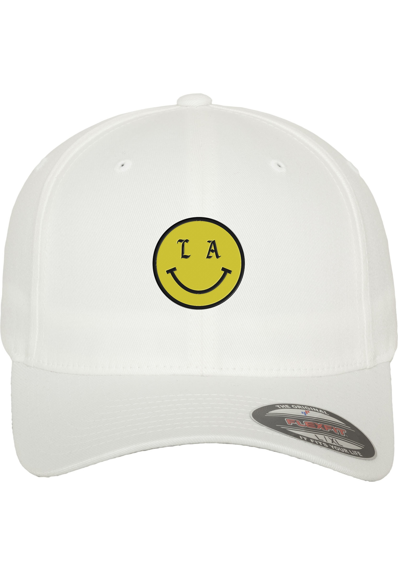 Flex Cap 'LA Smile' | Accessoires > Caps > Flex Caps | Gelb - Schwarz - Weiß | mister tee