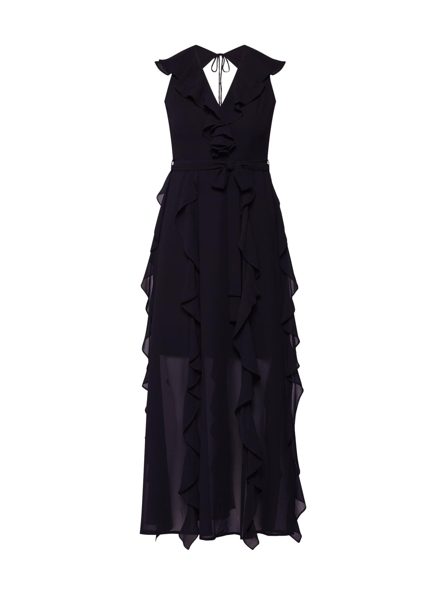 Společenské šaty EMILY FRILL DRESS černá Bardot
