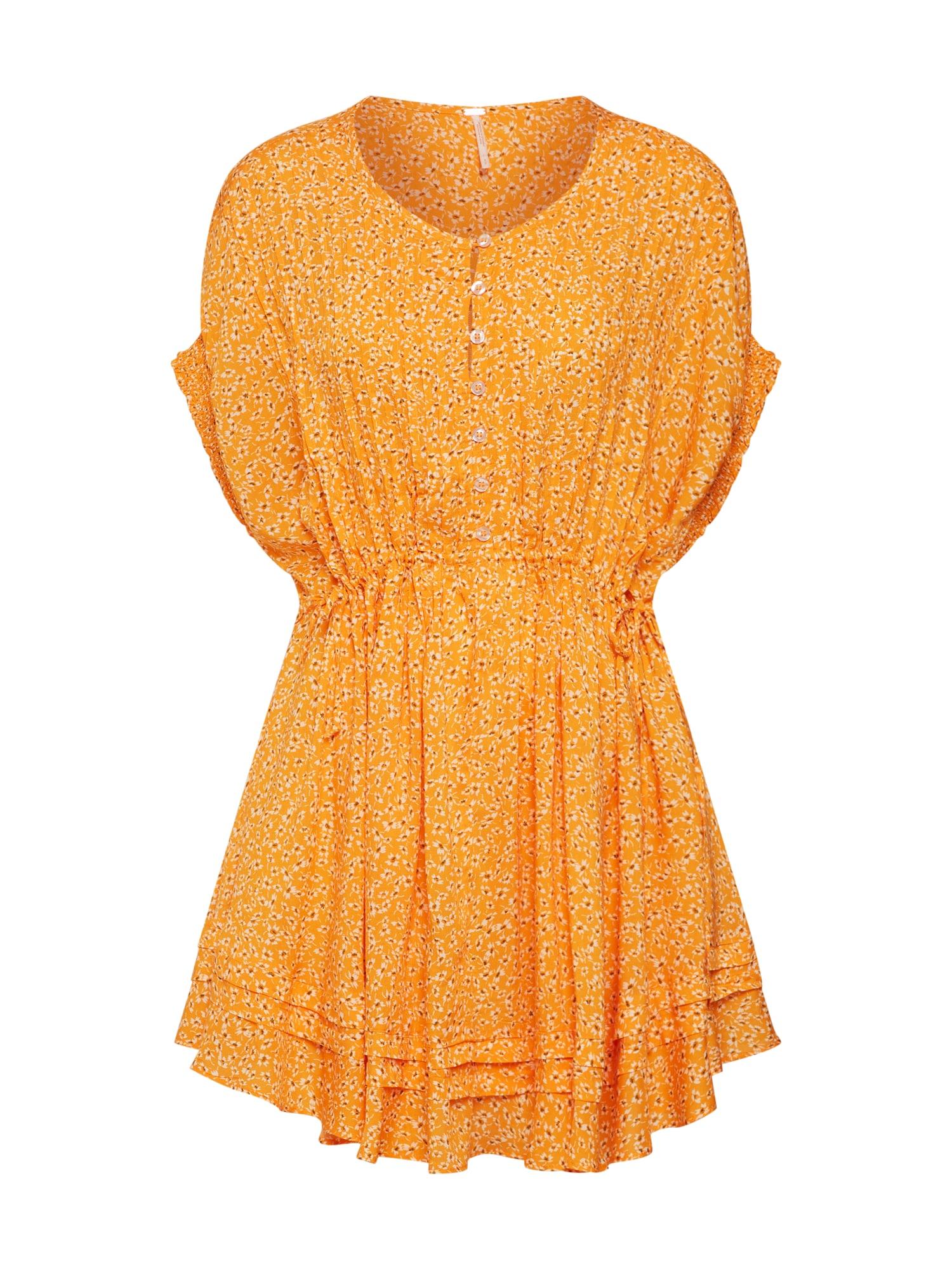 Košilové šaty One Fine Day Mini zlatě žlutá Free People