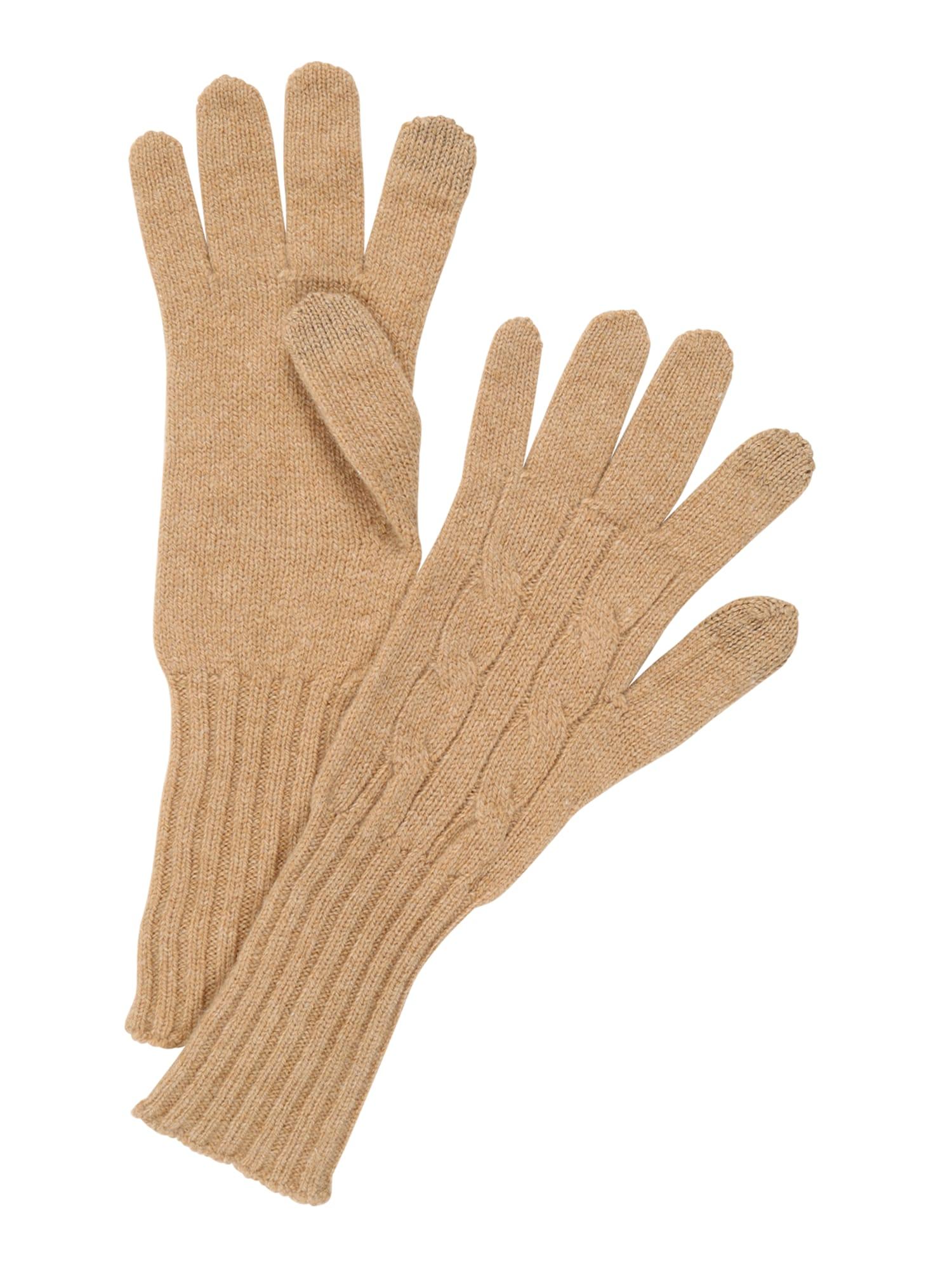 Prstové rukavice velbloudí POLO RALPH LAUREN