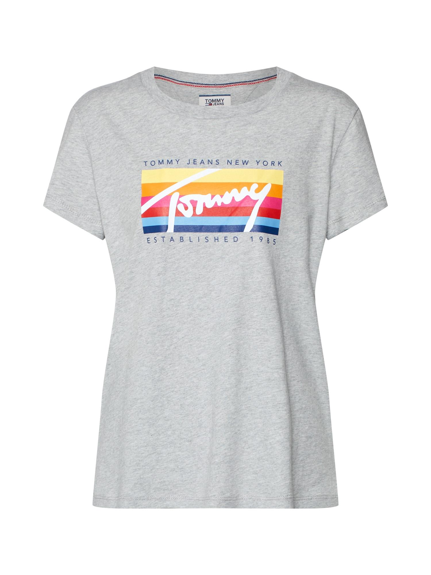Tričko TJW MULTI BOX SIGNATURE TEE šedý melír Tommy Jeans