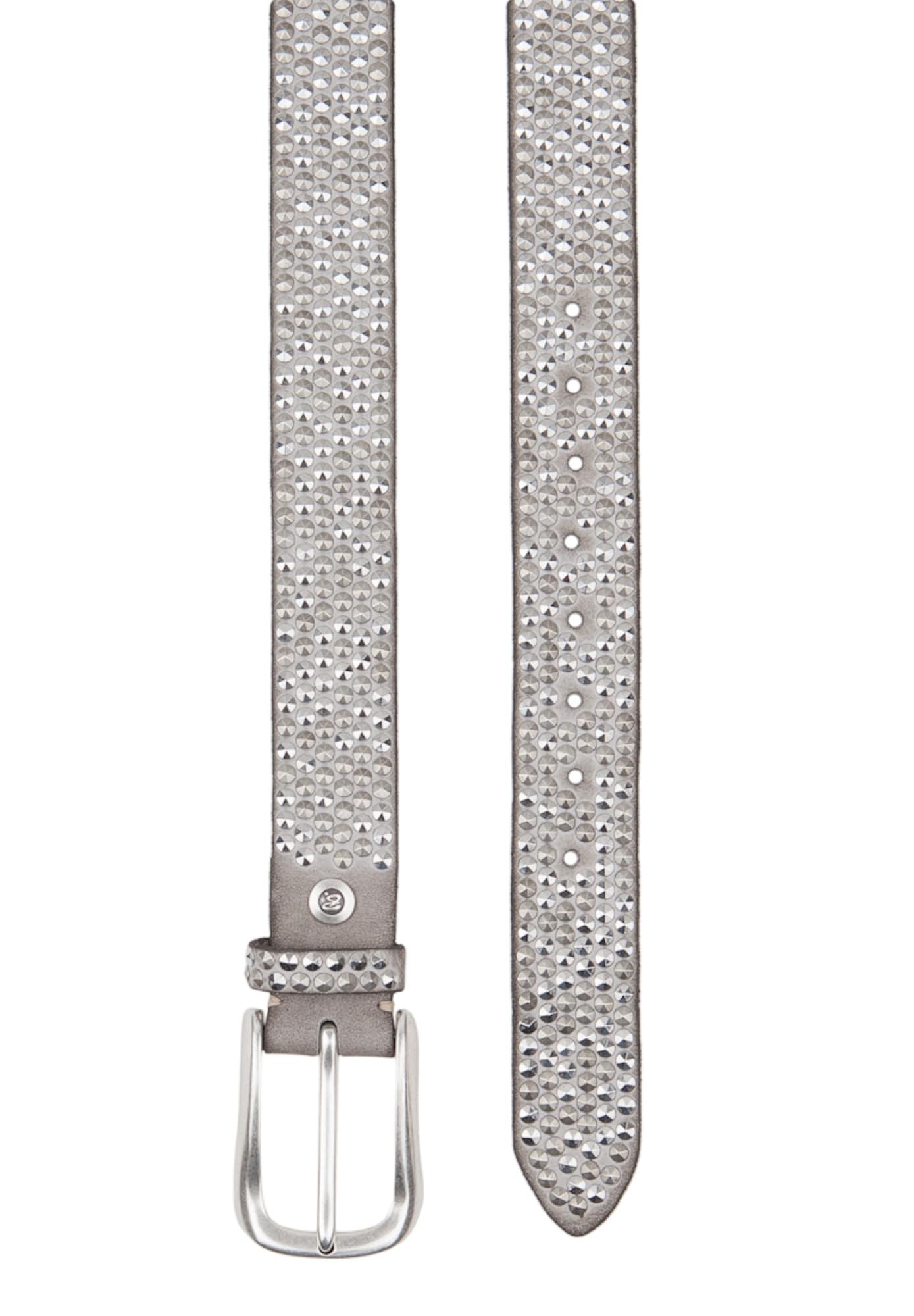 B.belt Handmade In Germany, Dames Riem, zilvergrijs