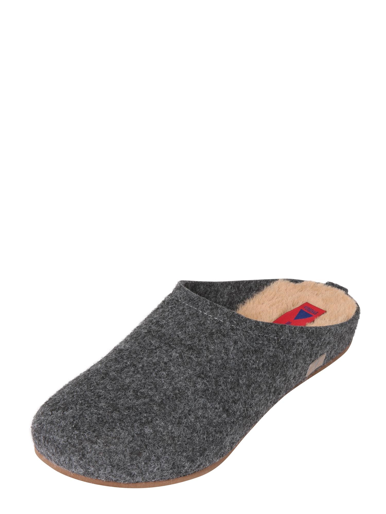 Pantofle CERLER béžová antracitová VERBENAS