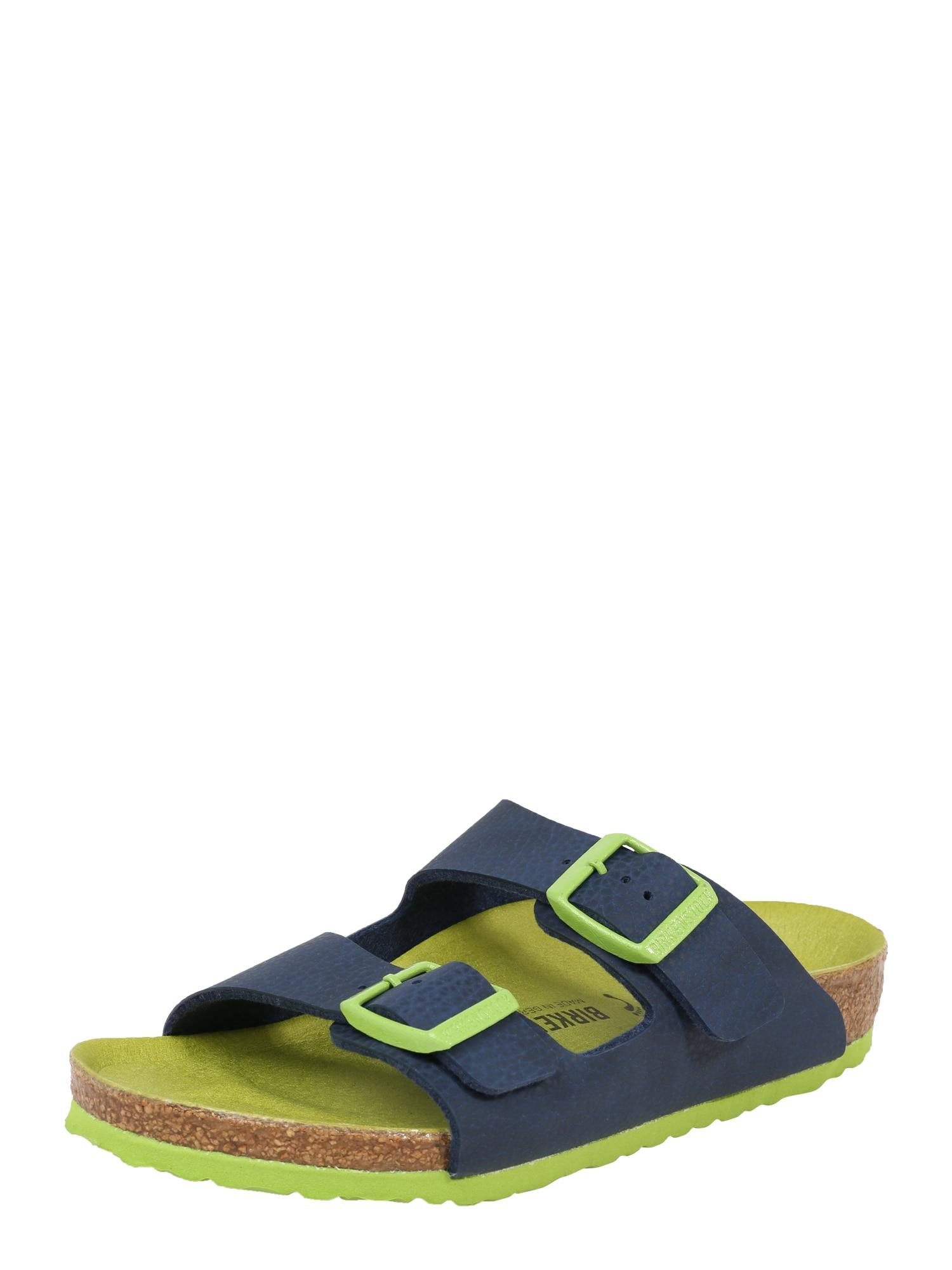 Otevřená obuv Arizona BF modrá svítivě zelená BIRKENSTOCK