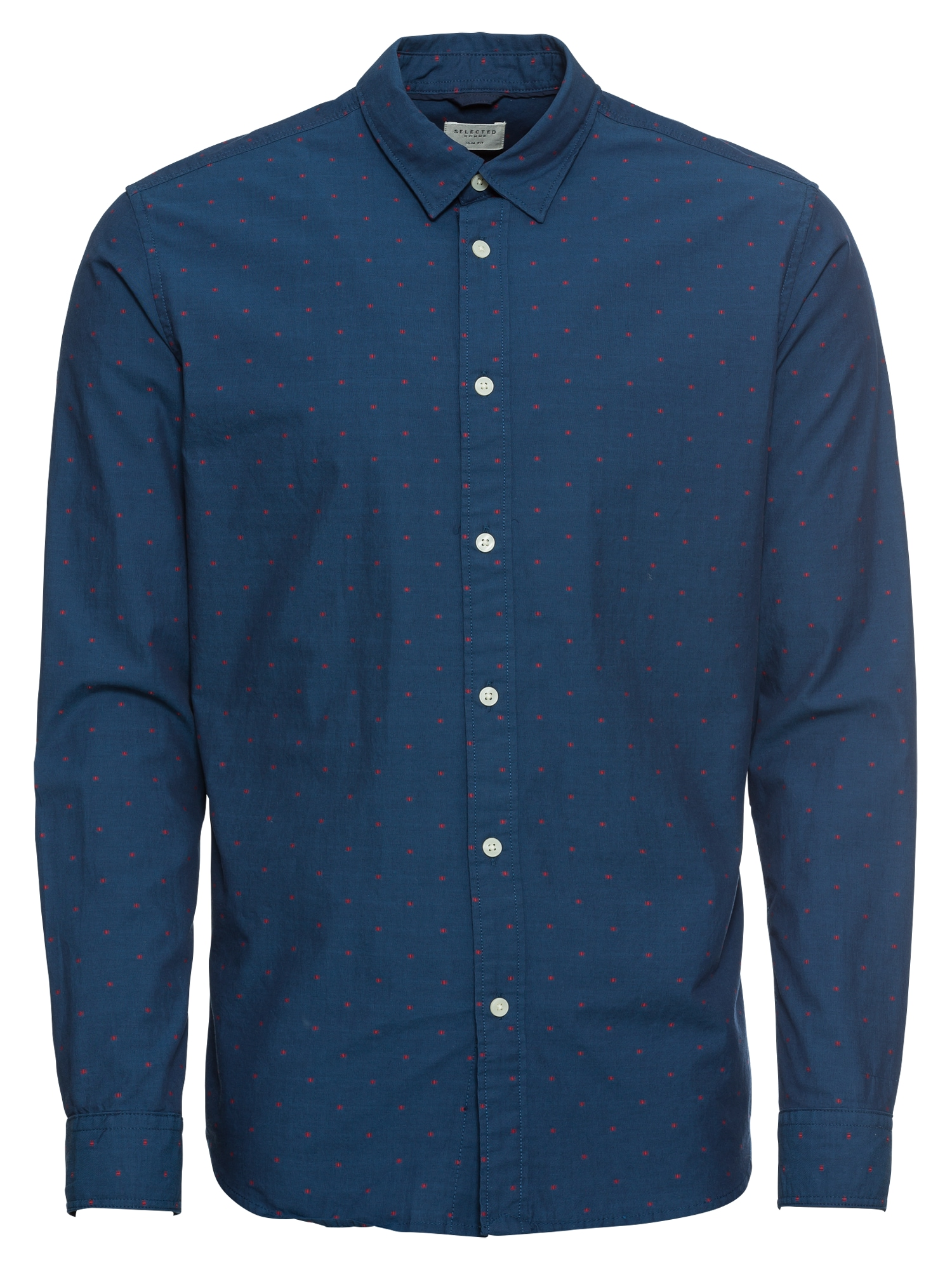 Společenská košile SLHSLIMMOONIE SHIRT LS W tmavě modrá SELECTED HOMME