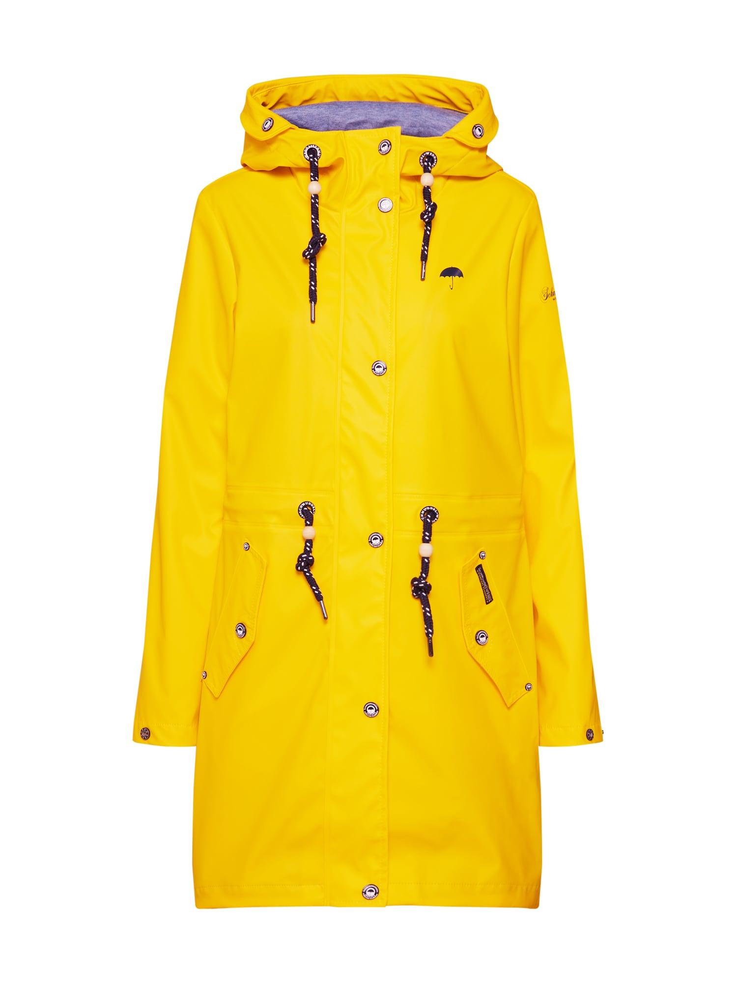 Přechodná bunda Basic Regenjacke žlutá černá Schmuddelwedda
