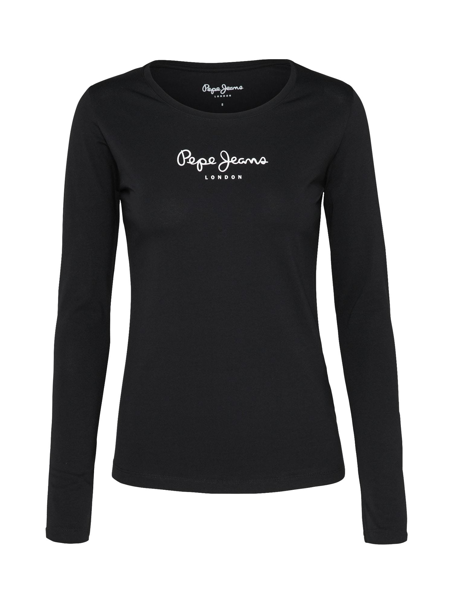 Pepe Jeans Dames Shirt NEW VIRGINIA L S zwart wit