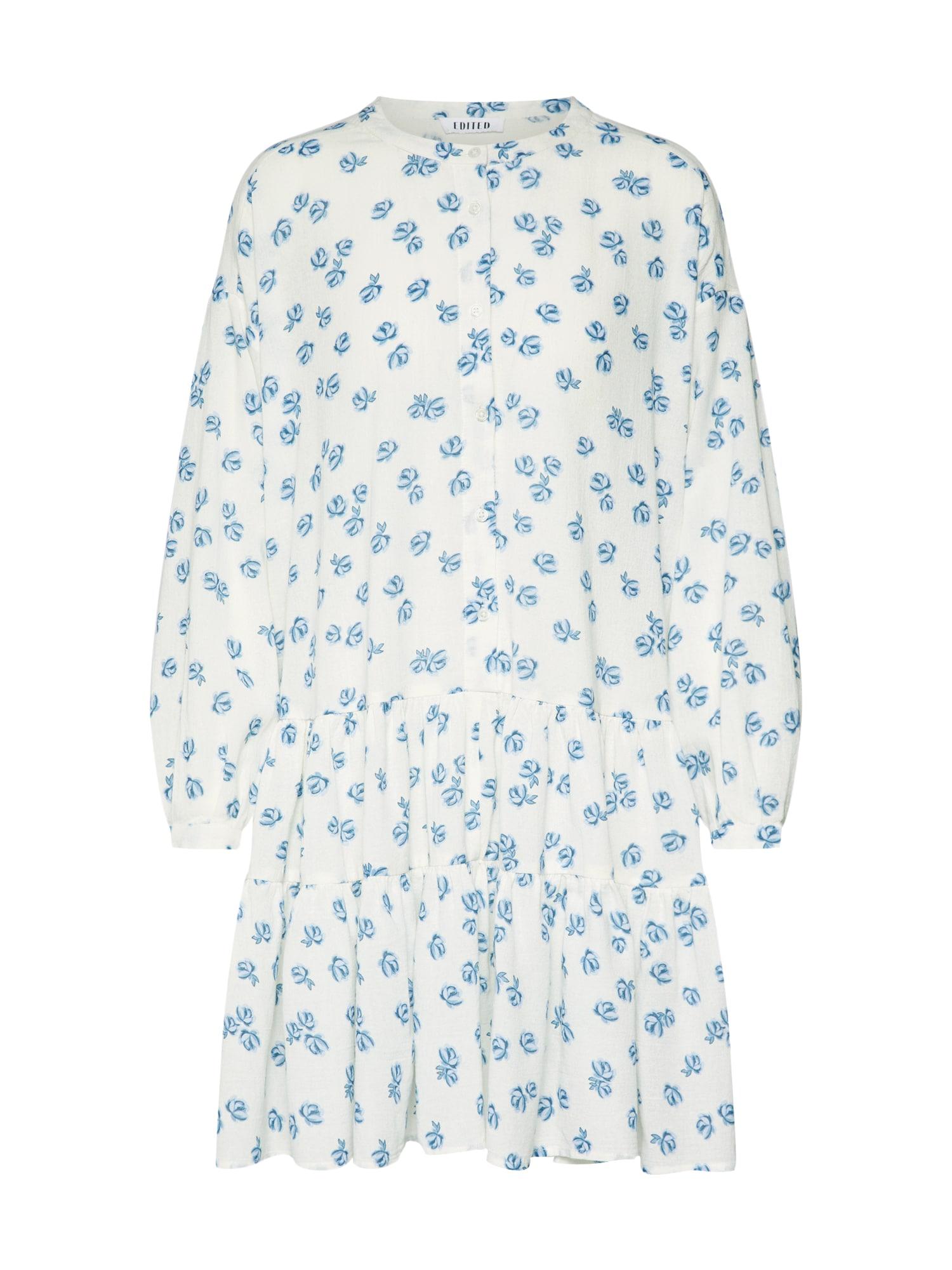 Šaty Dorisa modrá bílá EDITED