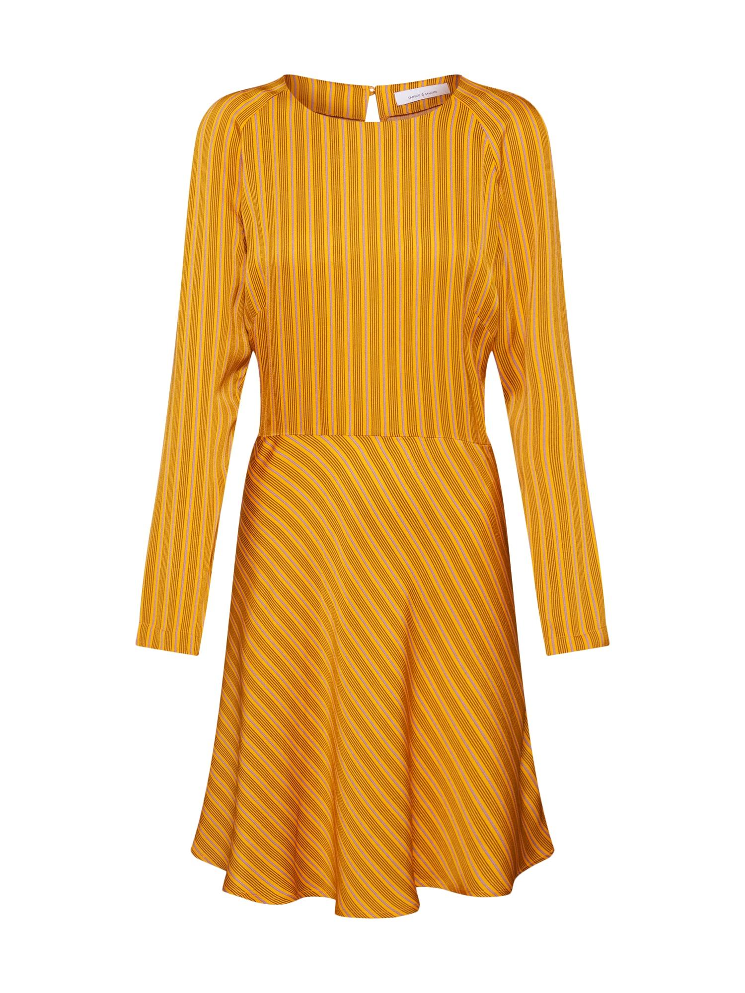 Šaty žlutá Samsoe & Samsoe