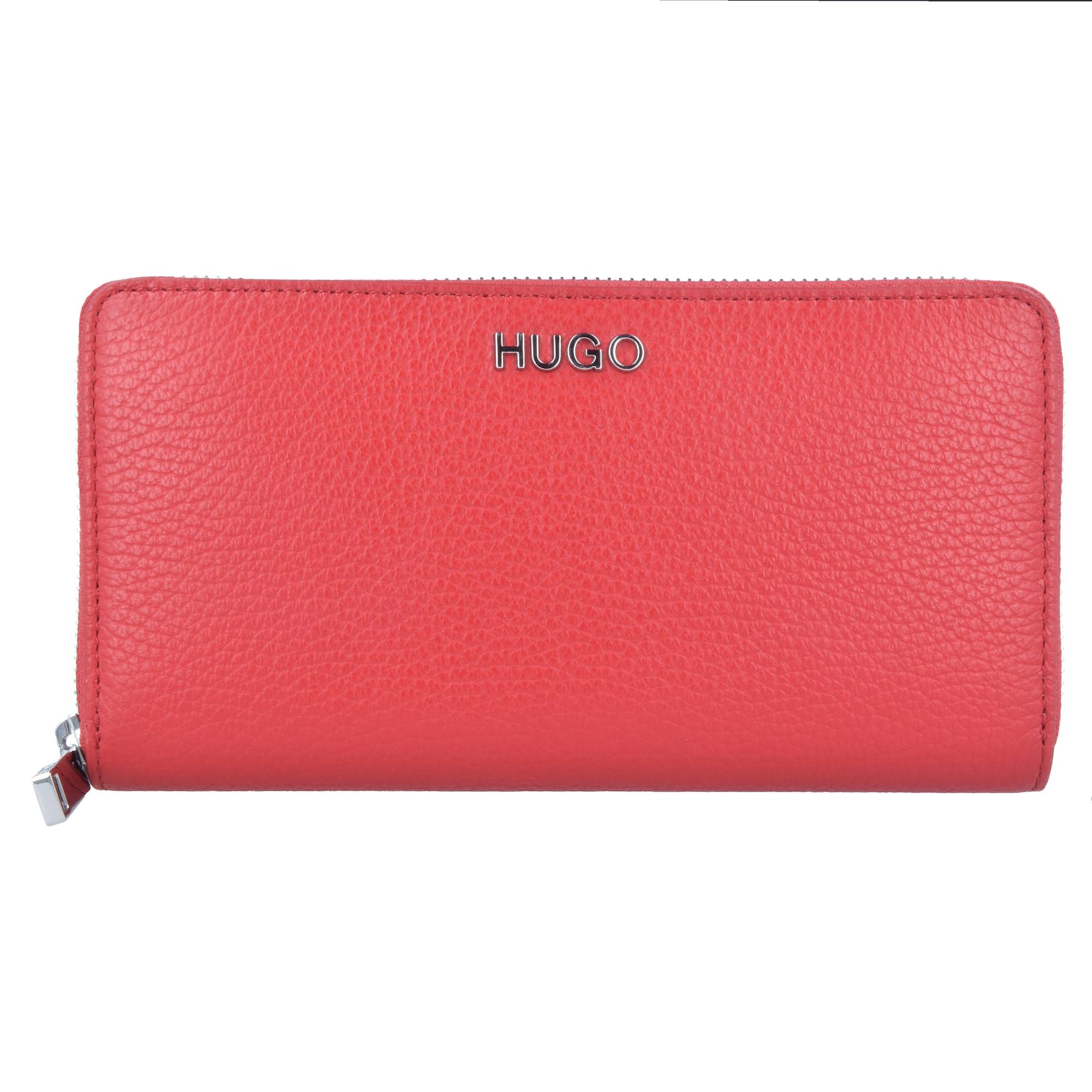 Peněženka Mayfair červená stříbrná HUGO