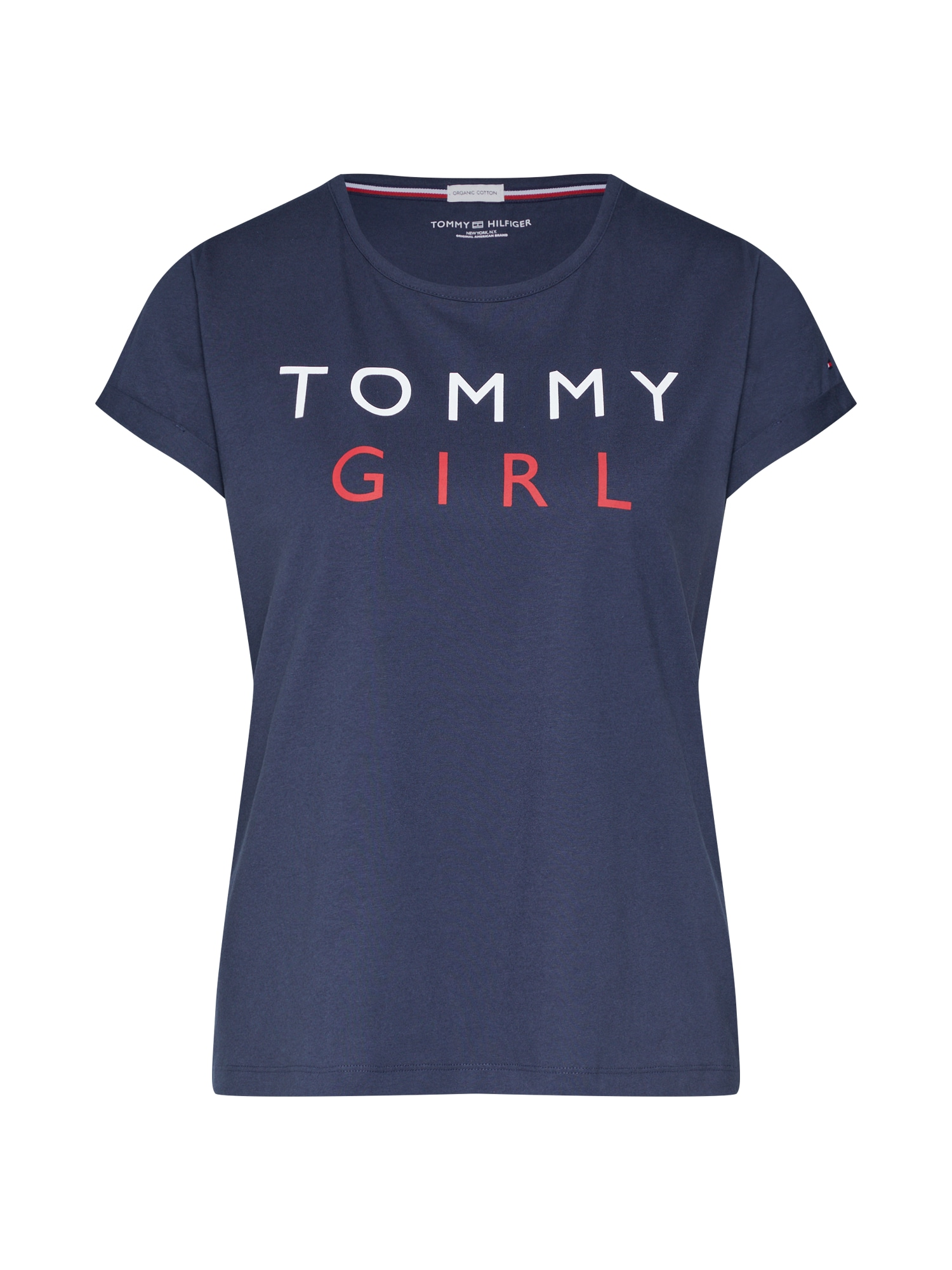 Tričko na spaní CN TEE SS modrá Tommy Hilfiger Underwear
