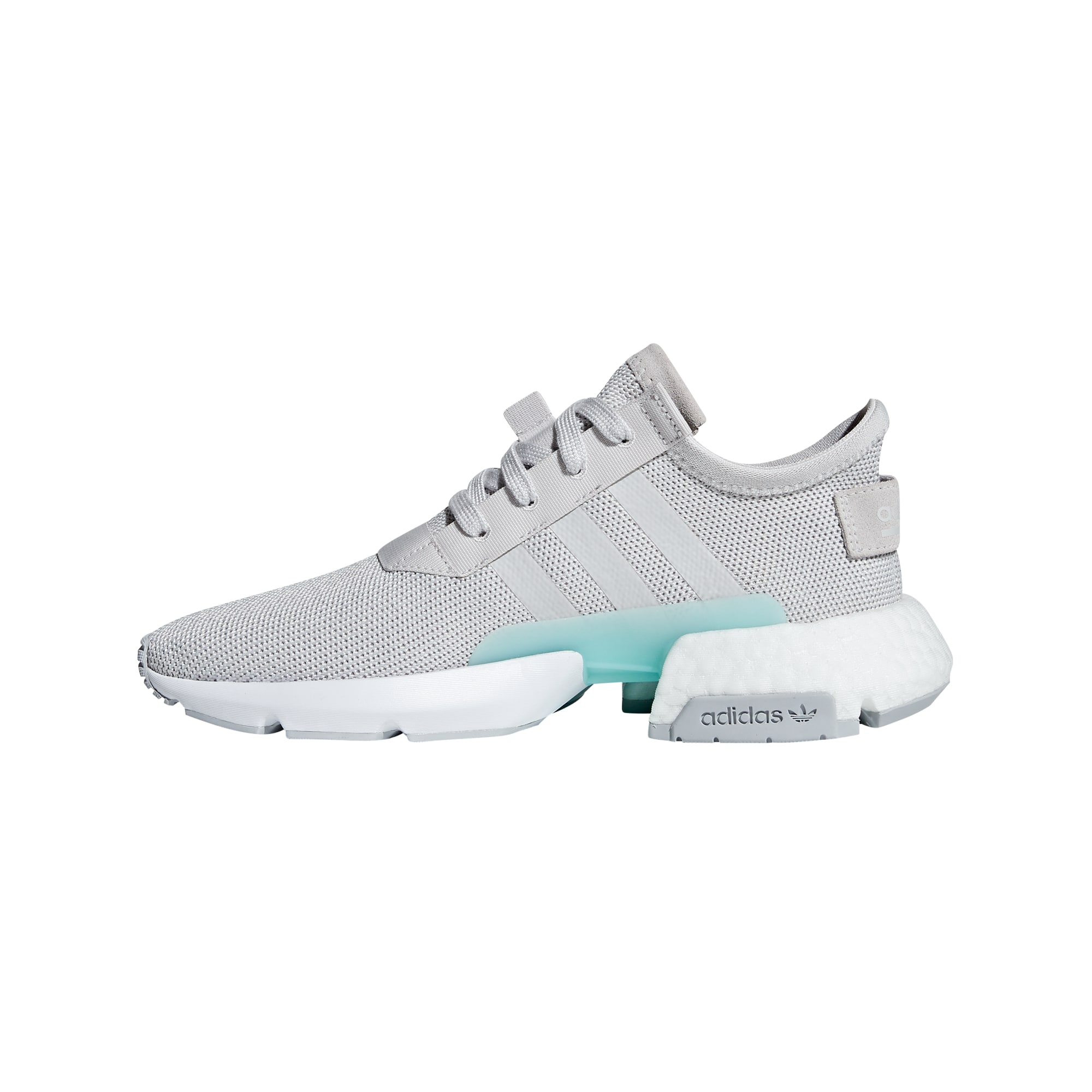 ADIDAS ORIGINALS, Dames Sneakers laag 'POD-S3.1 W', turquoise / grijs
