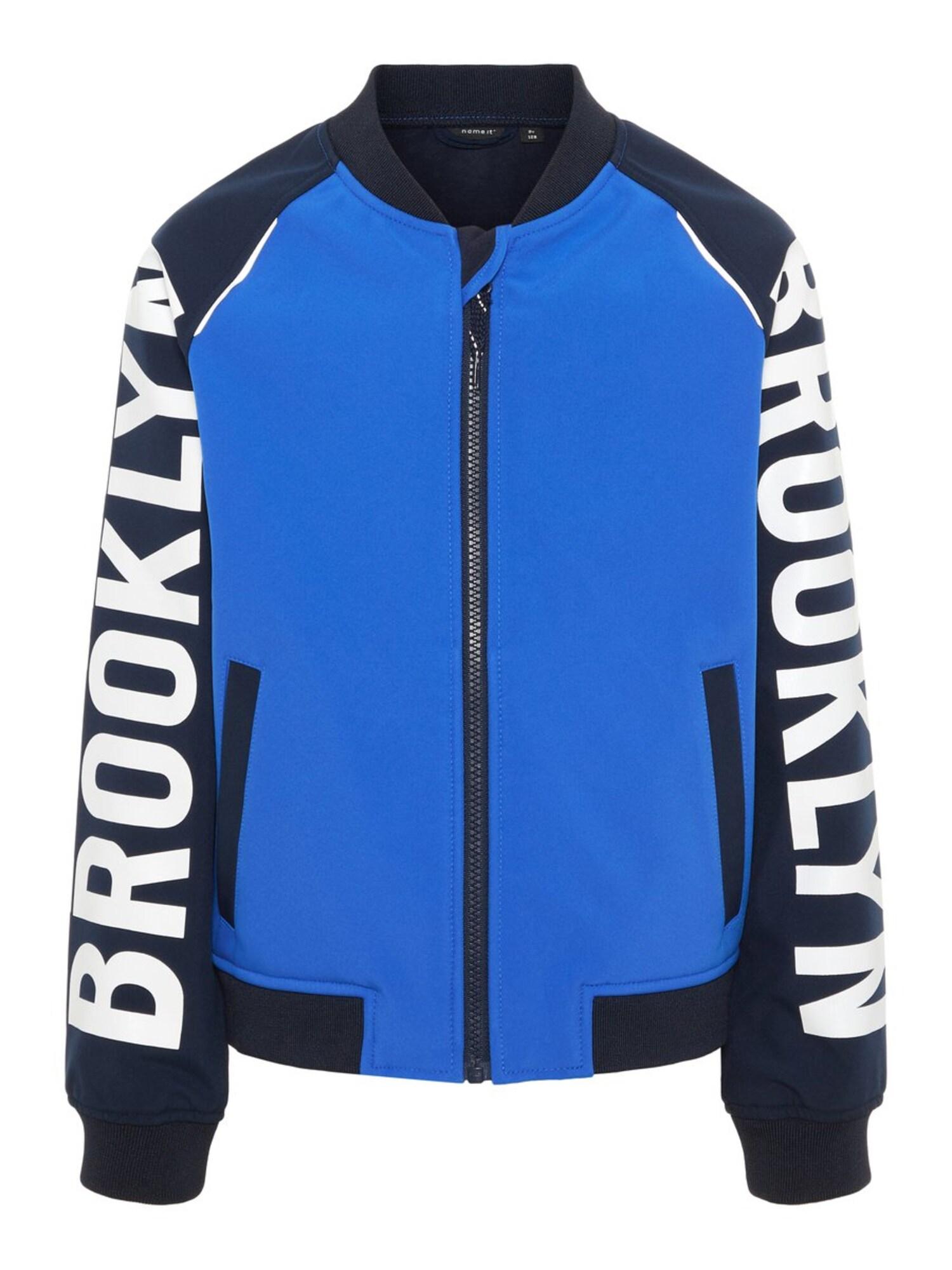 Funkční bunda Alfa noční modrá královská modrá bílá NAME IT