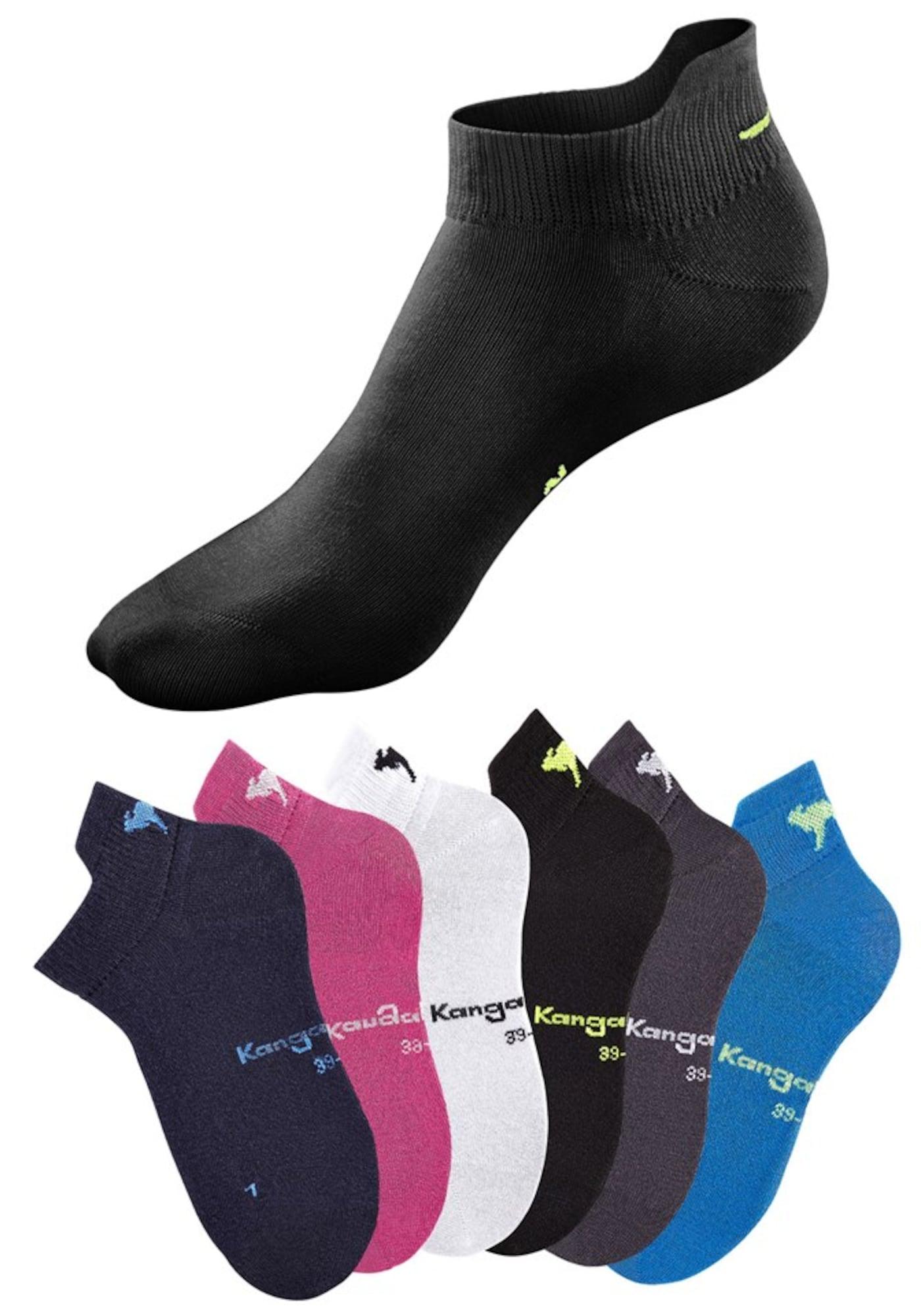 Sneakersocken | Sportbekleidung > Funktionswäsche > Sportsocken | Pink - Schwarz - Weiß | Kangaroos