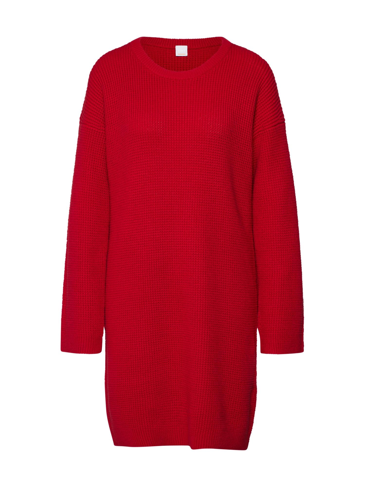 Úpletové šaty Itarisa červená BOSS