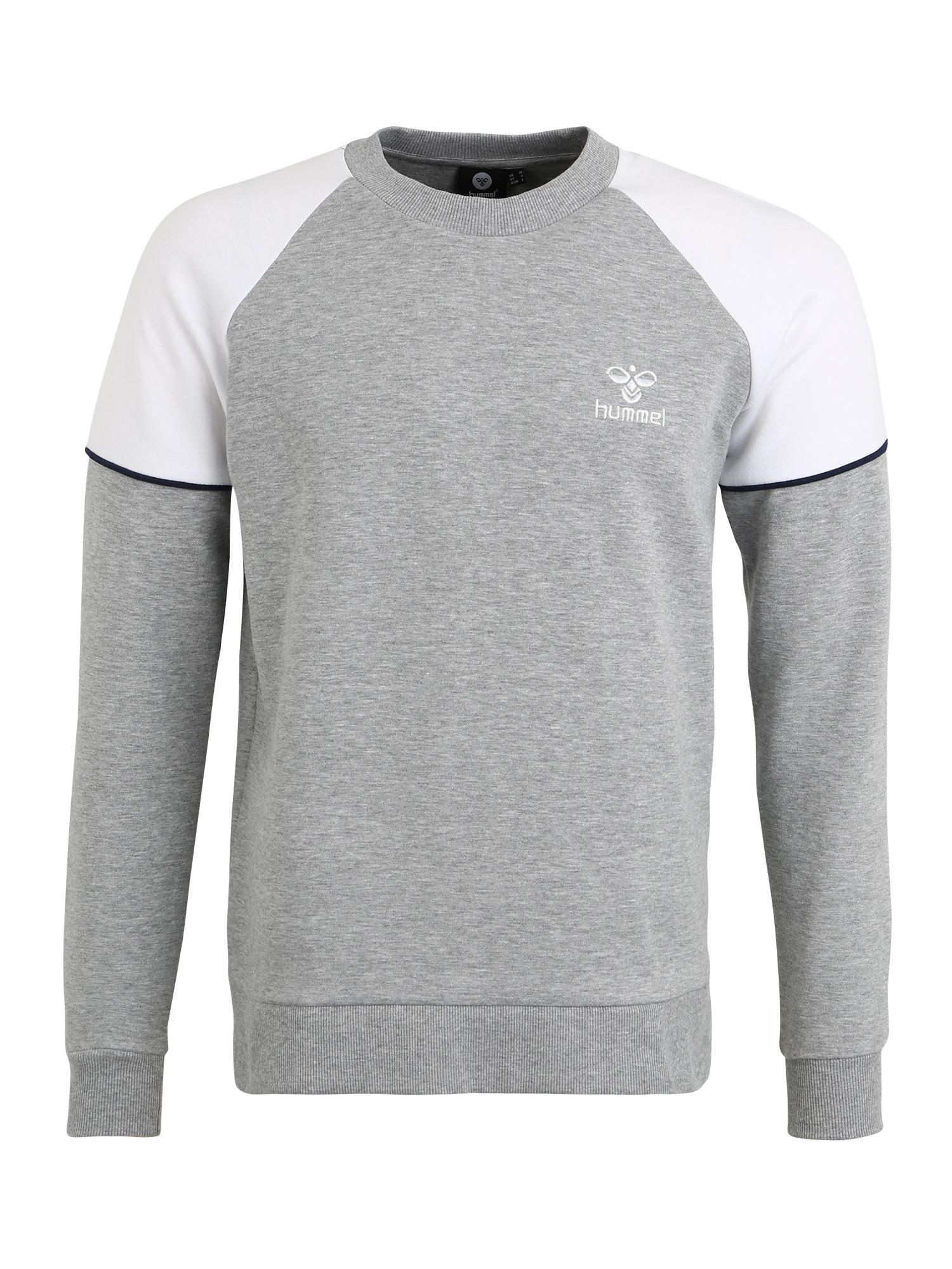 Hummel Sportovní mikina 'LAYTON SWEATSH'  bílá / světle šedá