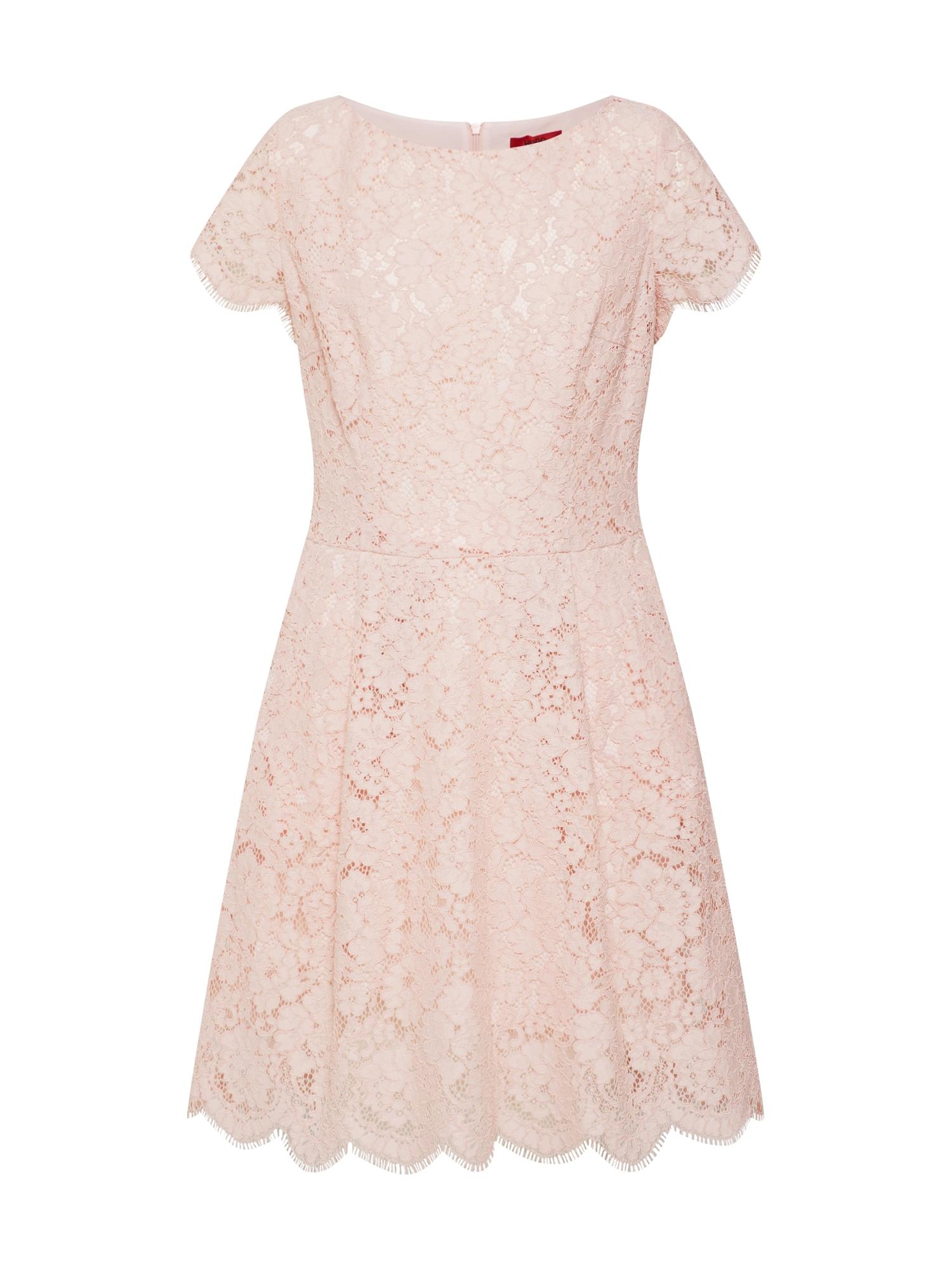 Koktejlové šaty Kasalli-1 růžová HUGO