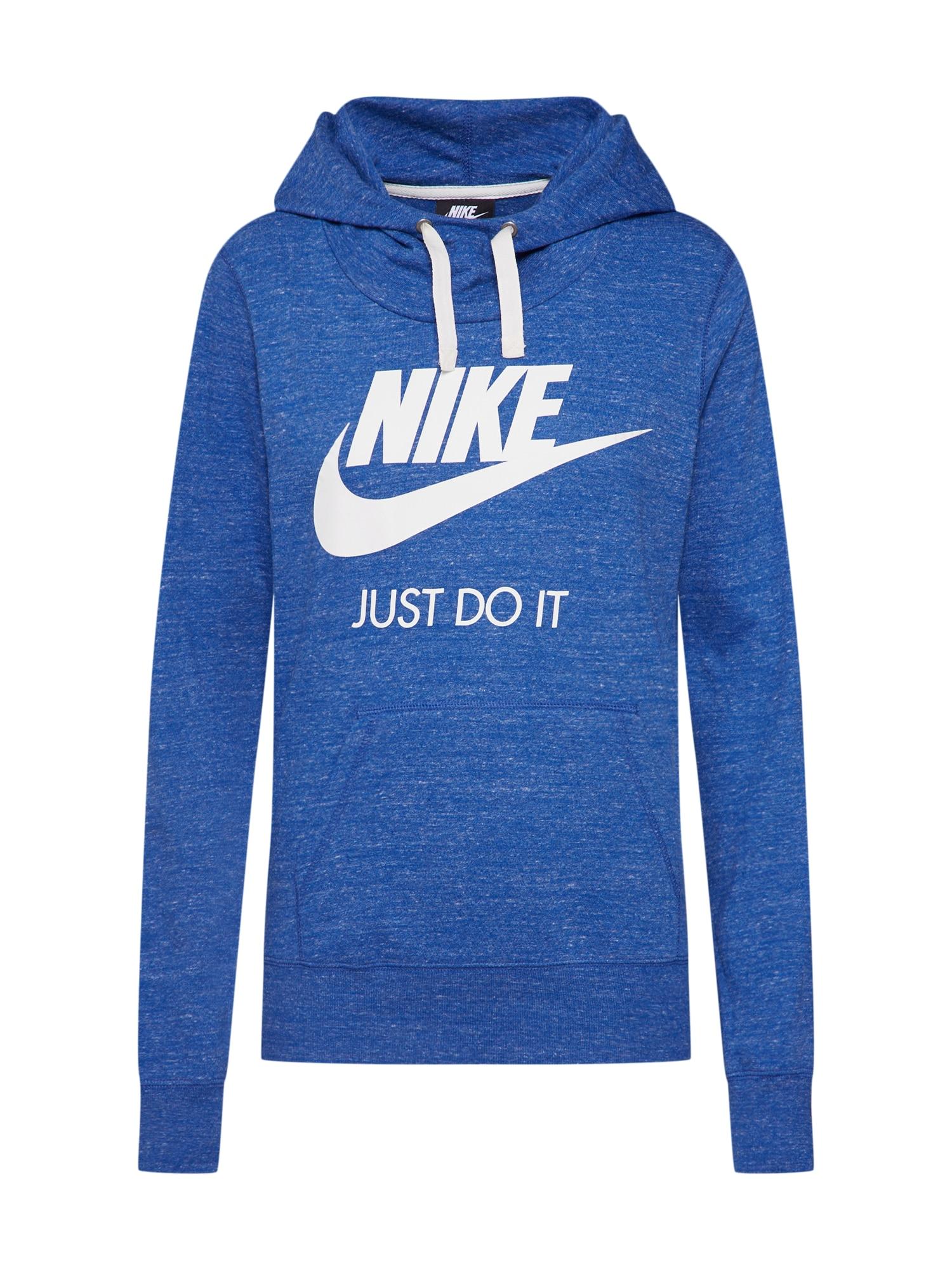 Nike Sportswear, Dames Sweatshirt 'GYM HOODIE', blauw
