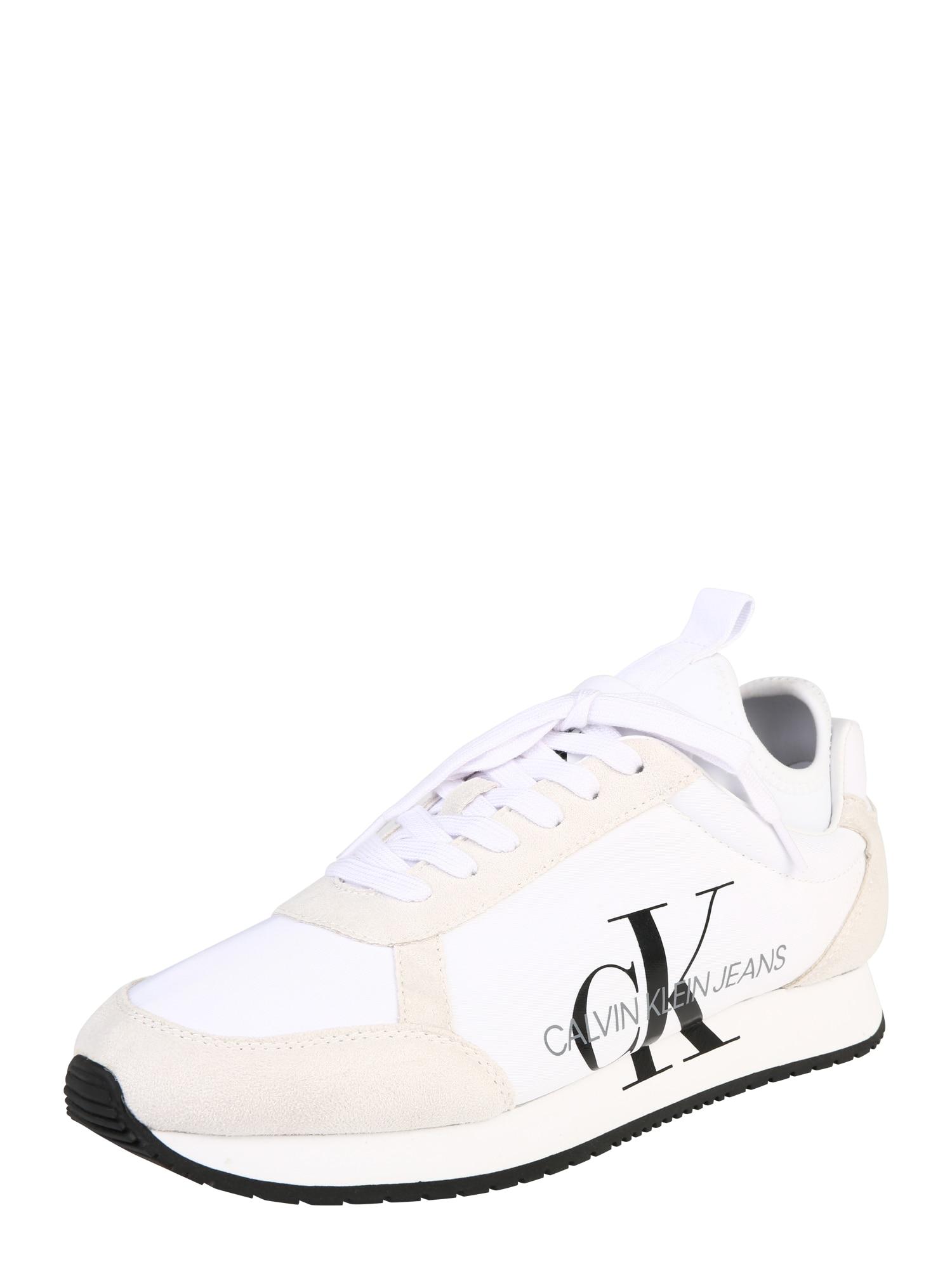 Calvin Klein Jeans Nízke tenisky 'JEMMY'  čierna / biela