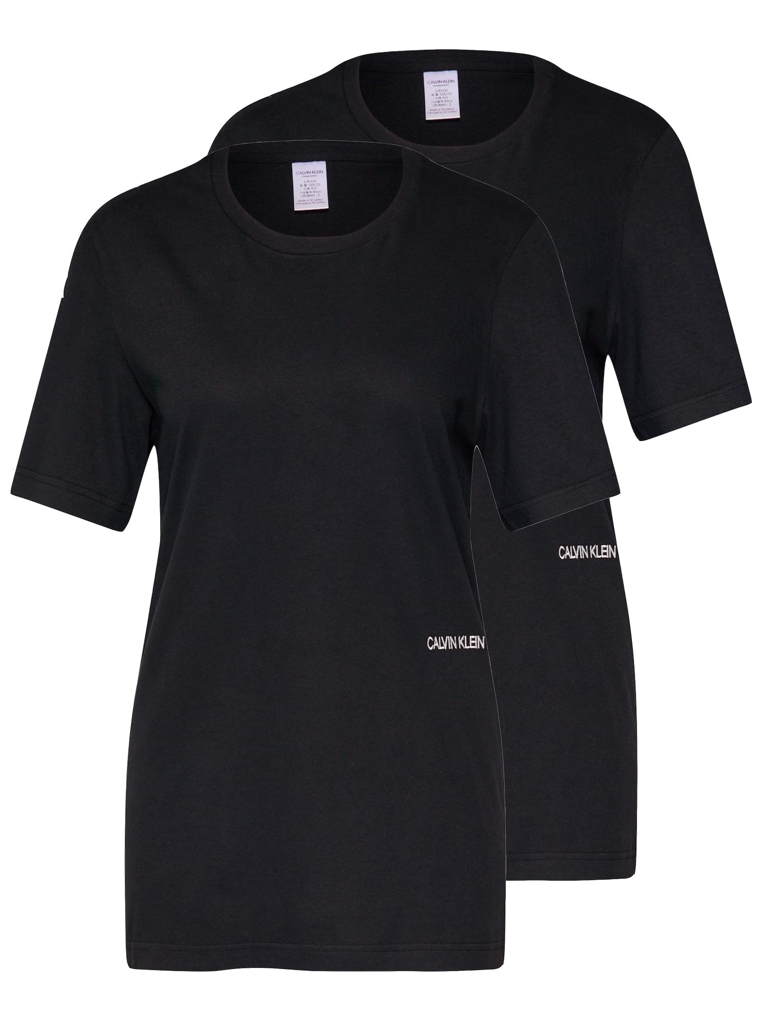 Tričko na spaní SS CREW NECK 2PK černá Calvin Klein Underwear