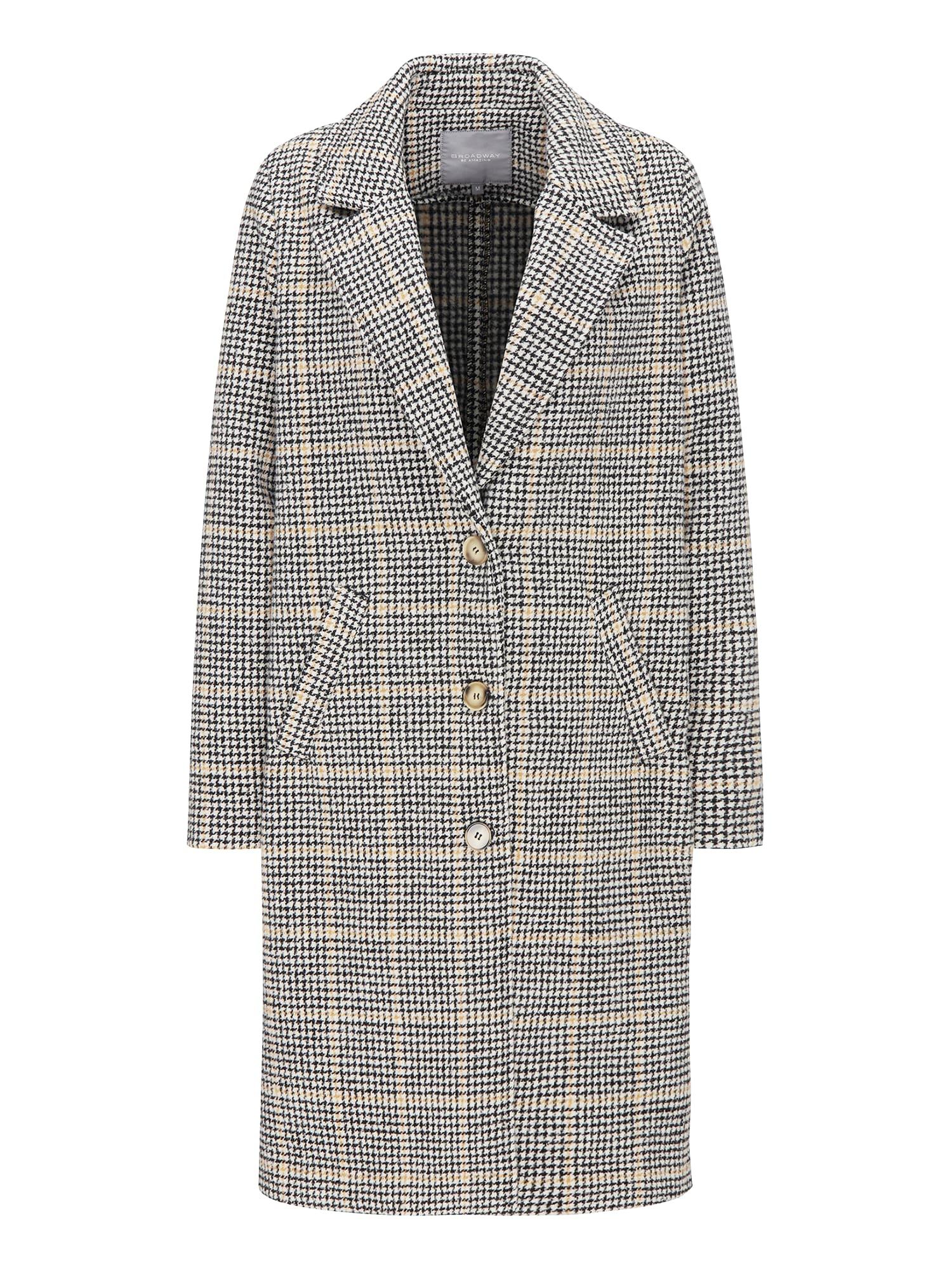 Přechodný kabát SHERALIN béžová světle šedá BROADWAY NYC FASHION