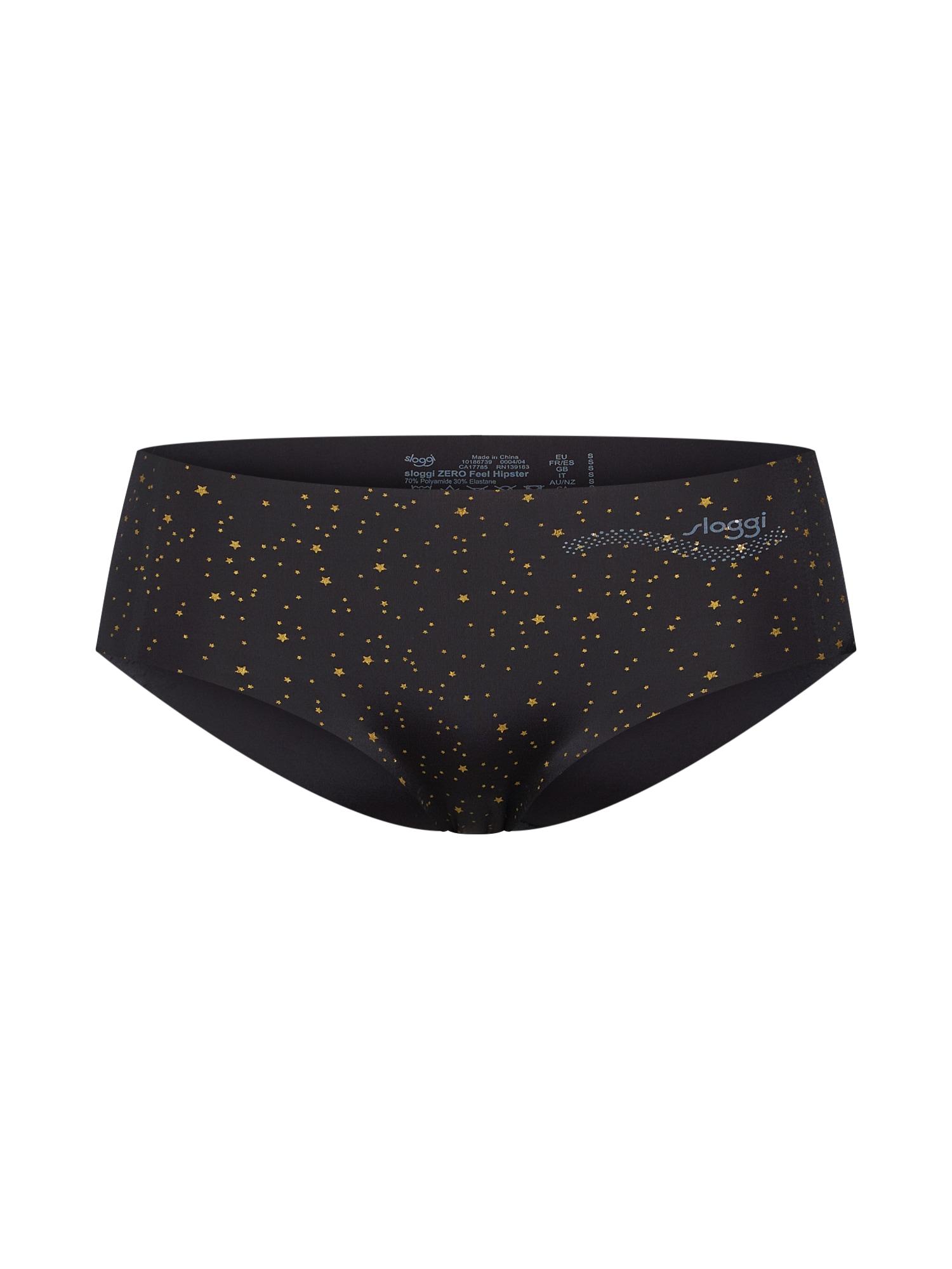 Kalhotky Zero Feel Hipster EX xmas zlatá černá SLOGGI