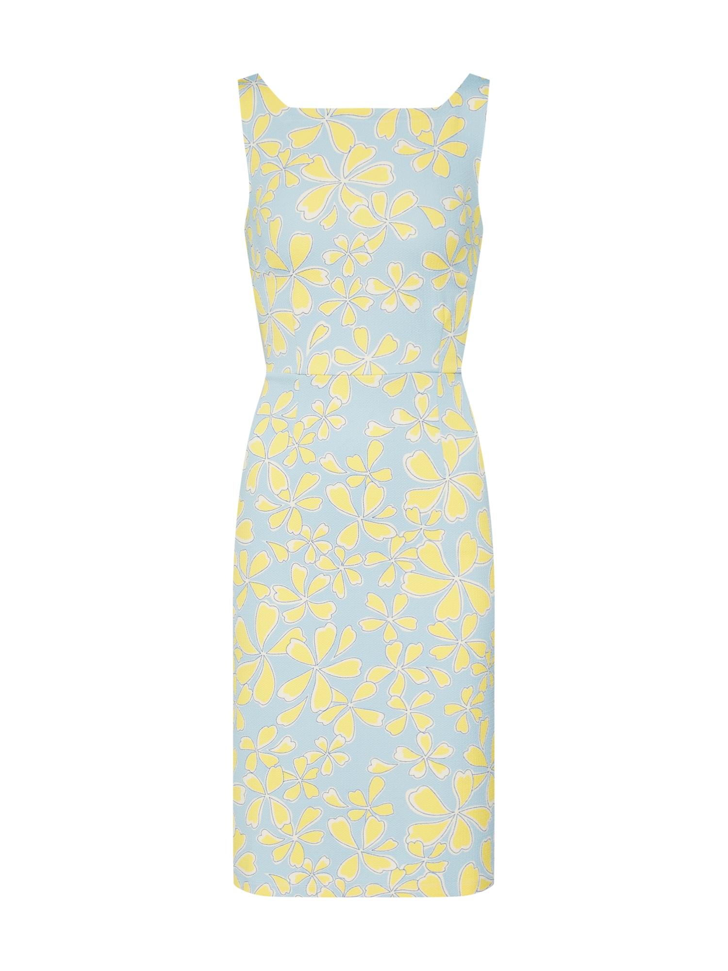 Pouzdrové šaty Gwen světlemodrá žlutá King Louie