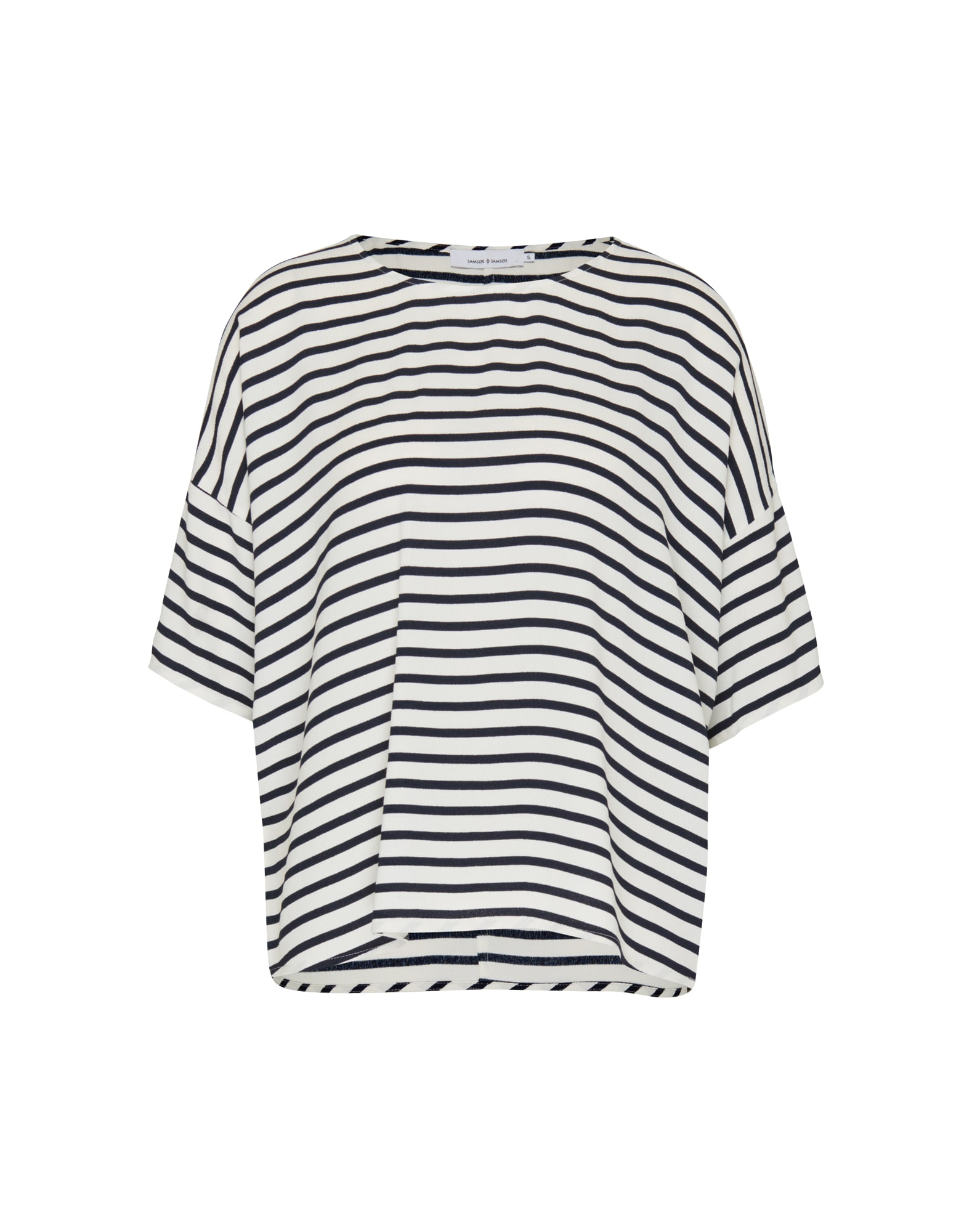 Tričko námořnická modř bílá Samsoe & Samsoe