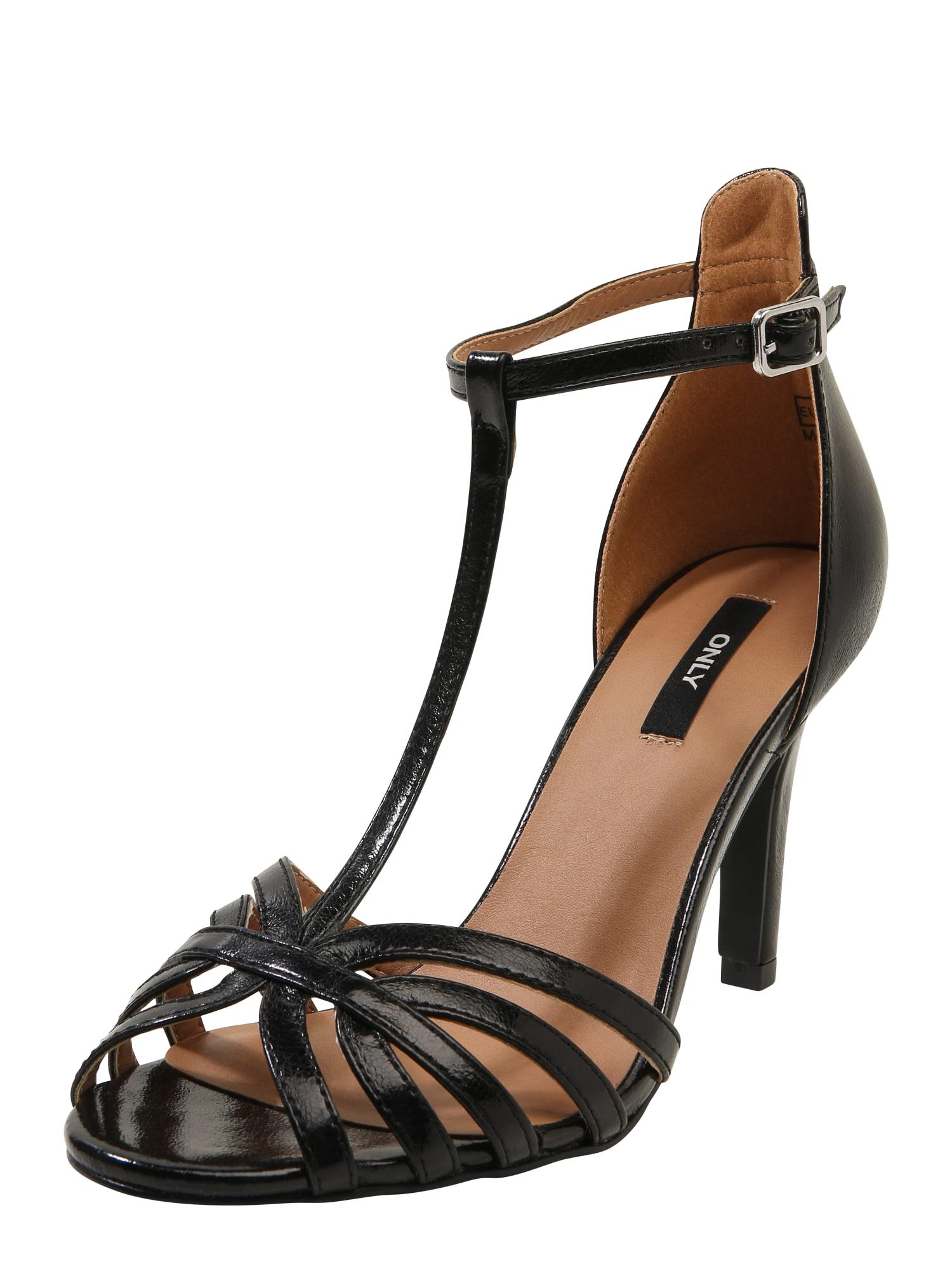 Páskové sandály Abby černá ONLY