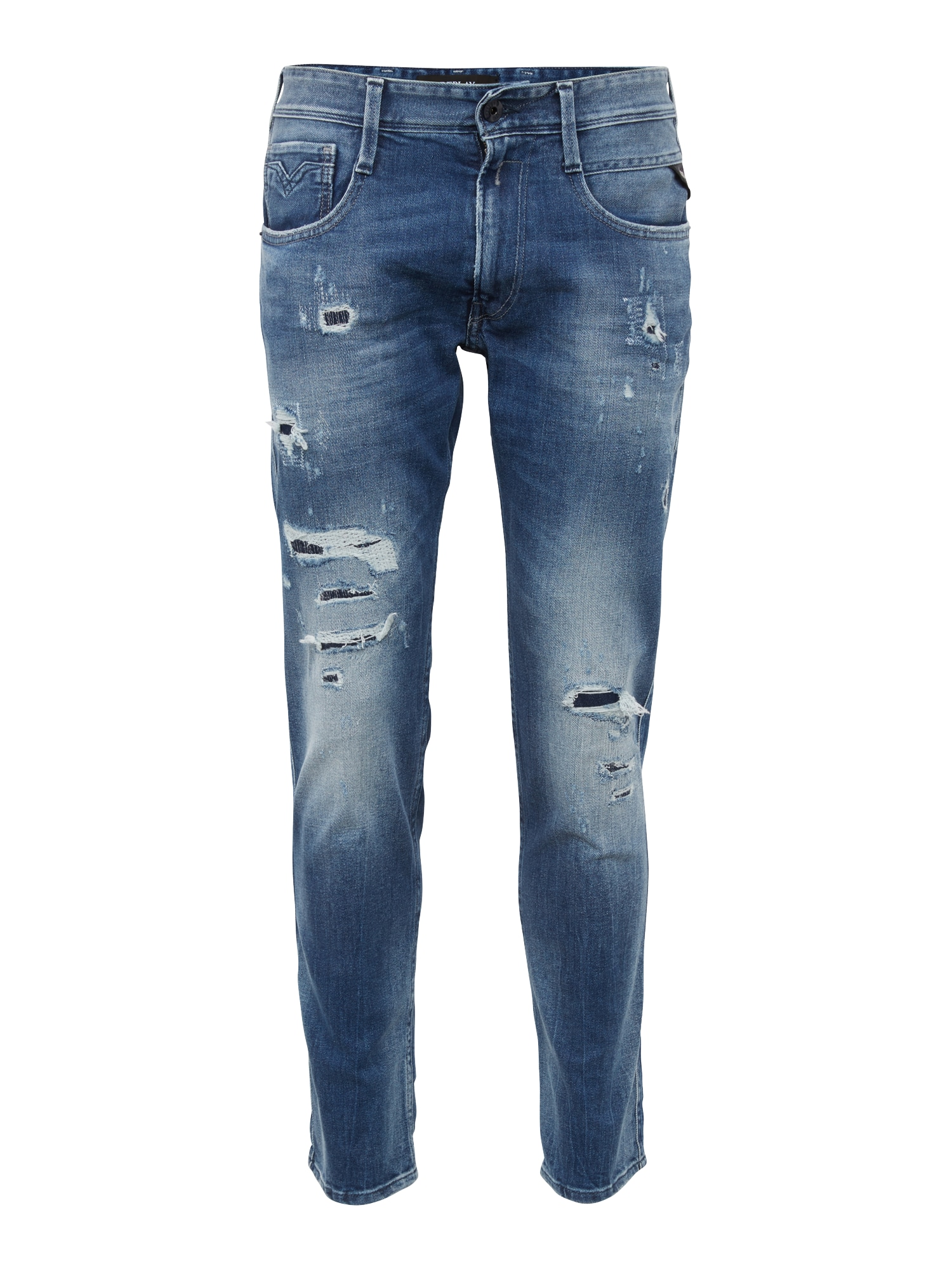 REPLAY Heren Jeans Anbass blue denim