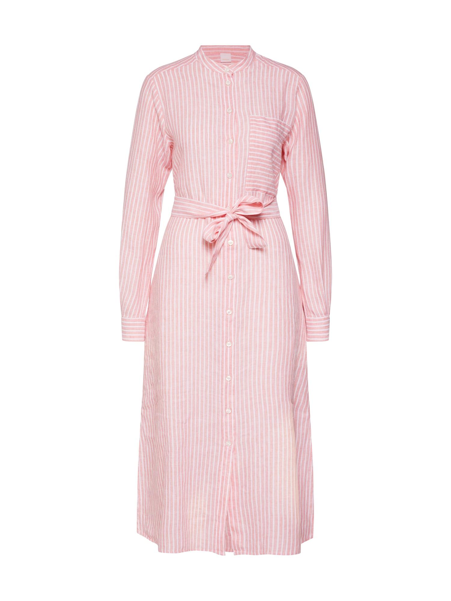 Šaty Camona růžová bílá BOSS