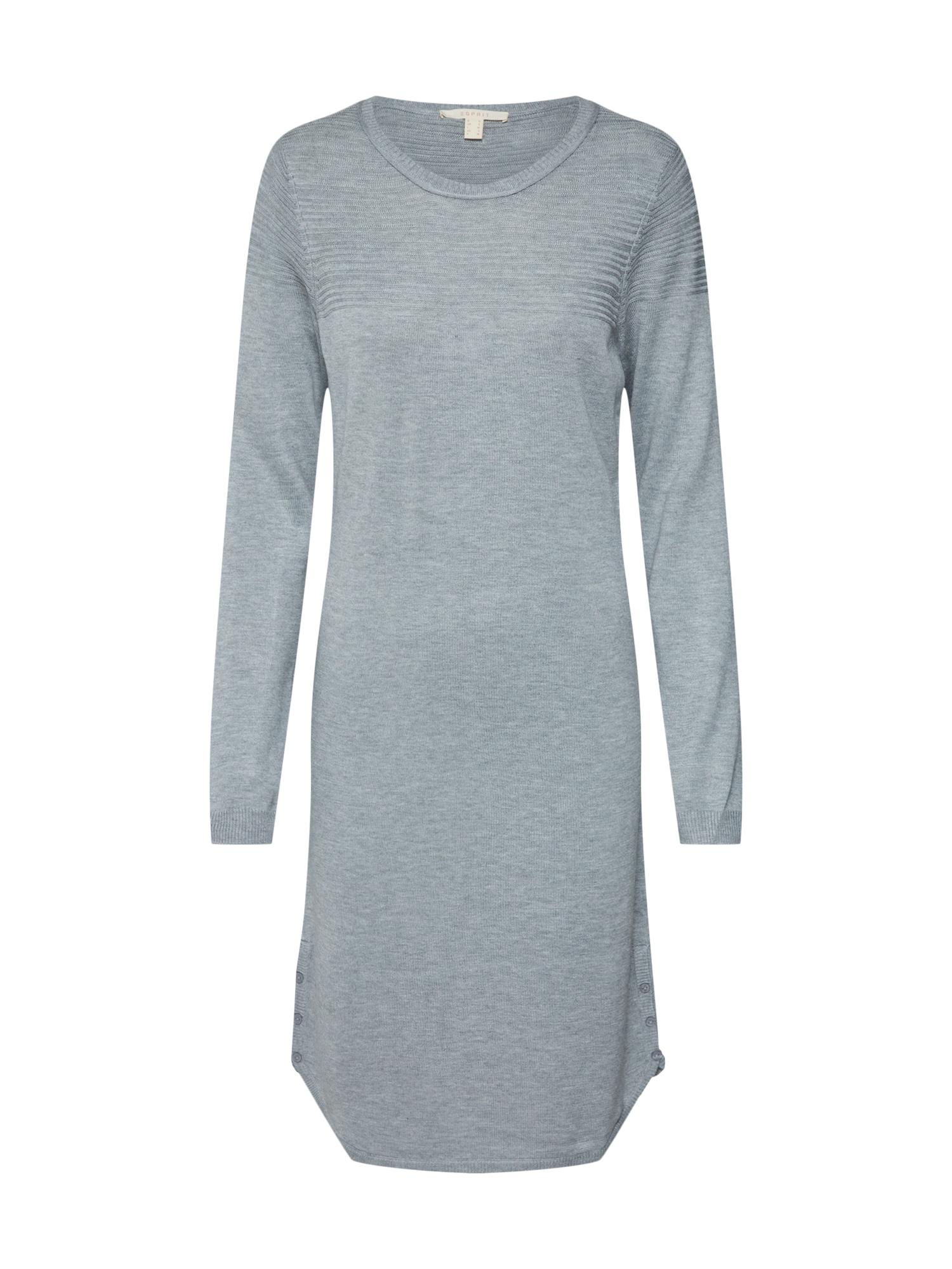 Úpletové šaty šedá ESPRIT