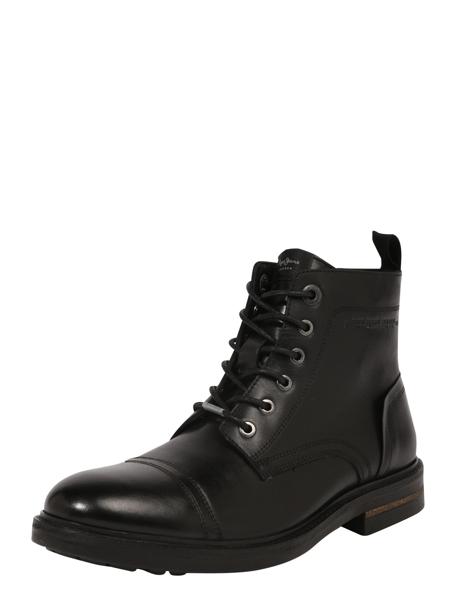 Šněrovací boty HUBERT černá Pepe Jeans