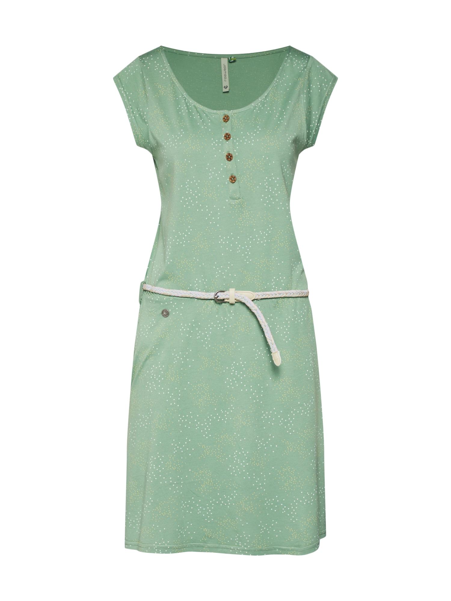Letní šaty ZEPHIE ORGANIC světle zelená bílá Ragwear