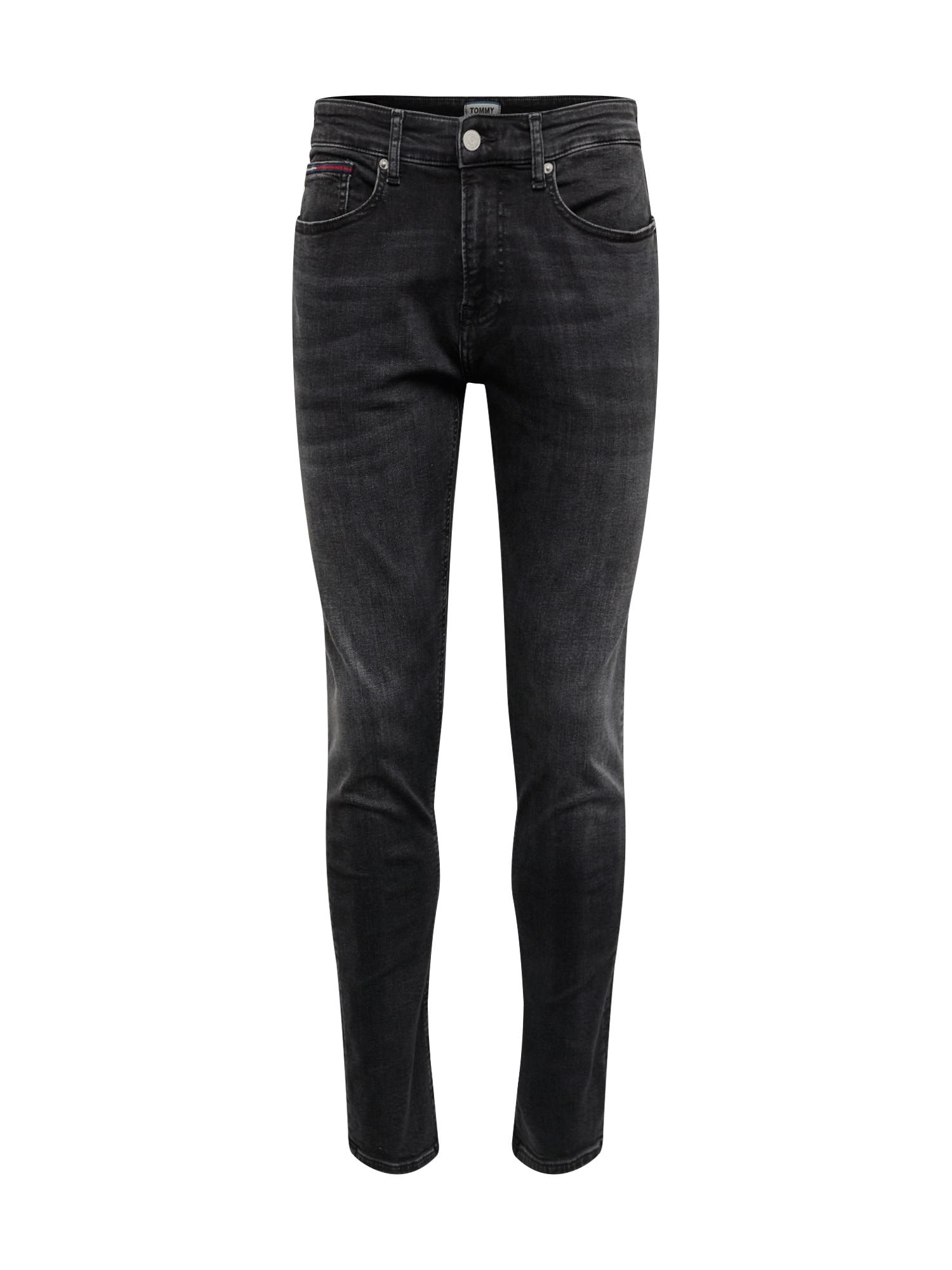 Džíny SLIM TAPERED STEVE MMPHS černá džínovina Tommy Jeans