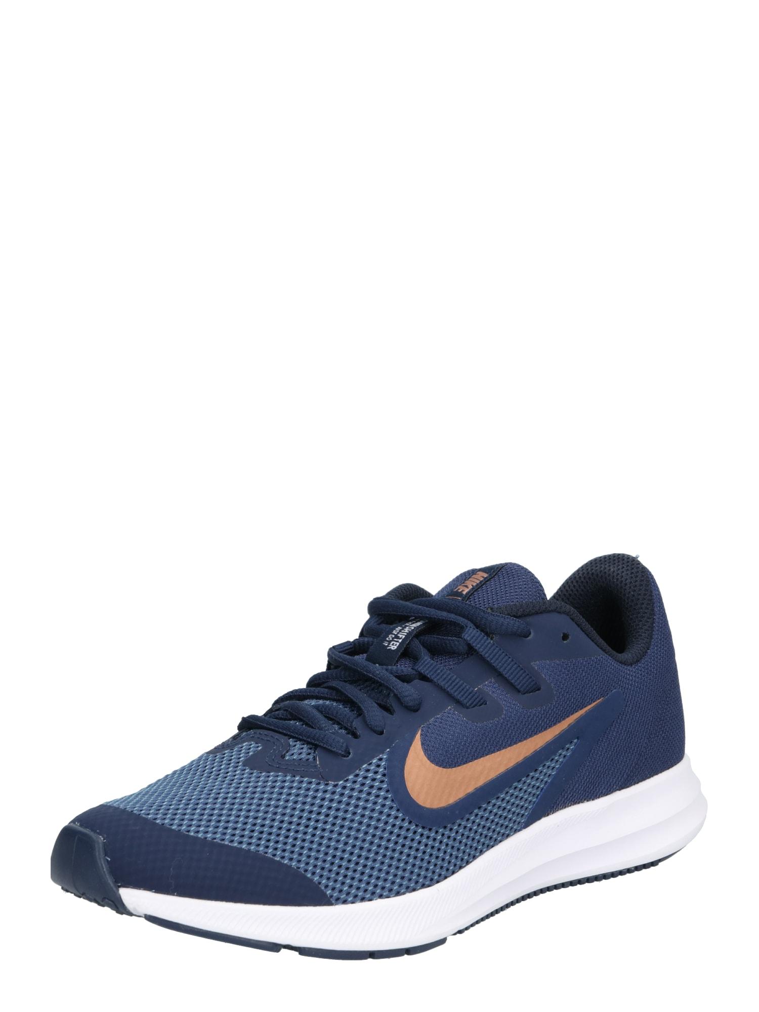 NIKE Sportovní boty 'Nike Downshifter 9'  modrá / bronzová