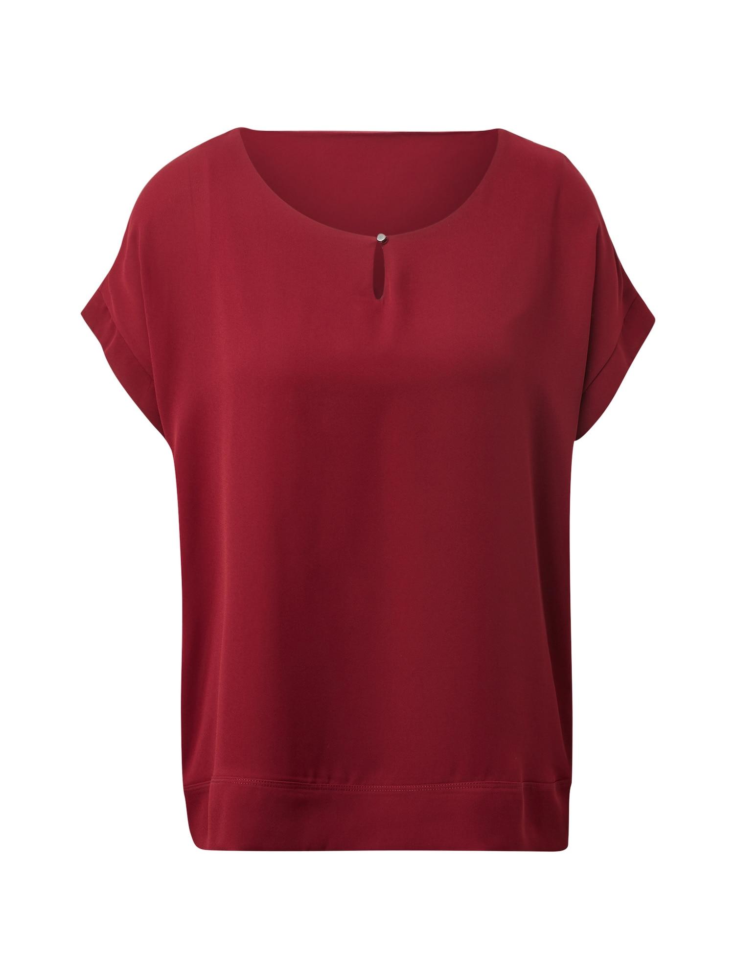 TOM TAILOR Tričko  tmavě červená