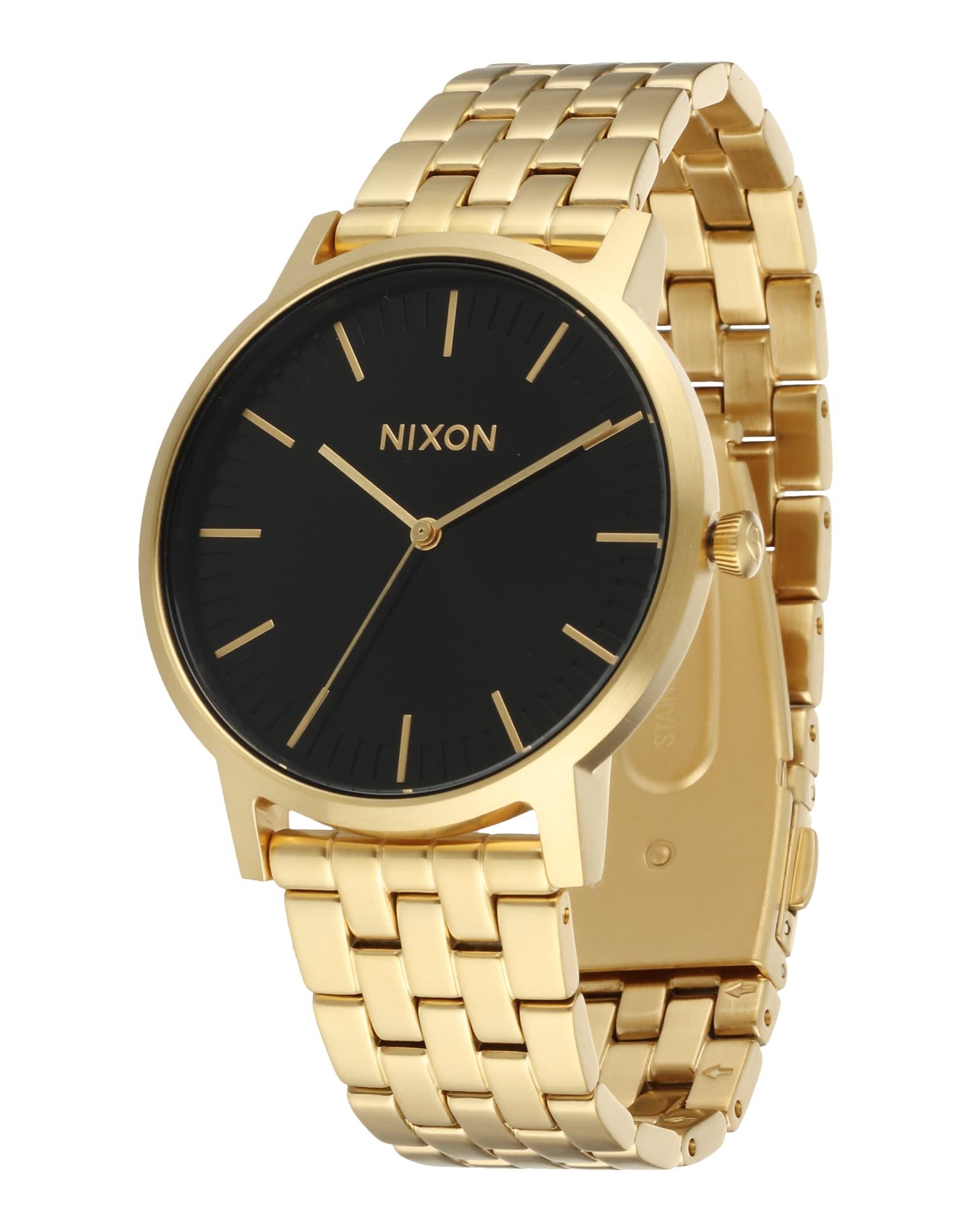 Analogové hodinky Porter zlatá černá Nixon