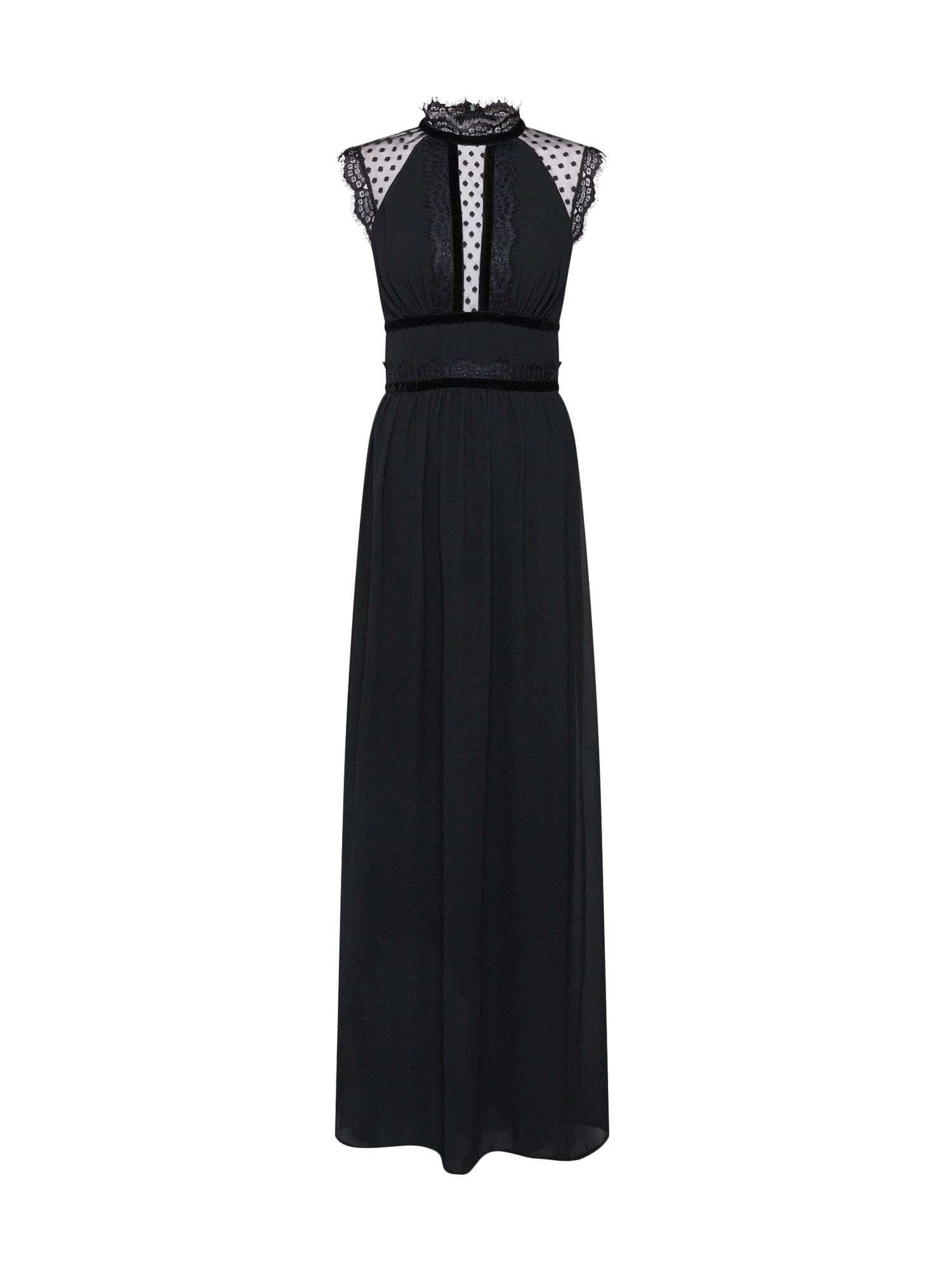 Společenské šaty TRUETH MAXI černá TFNC