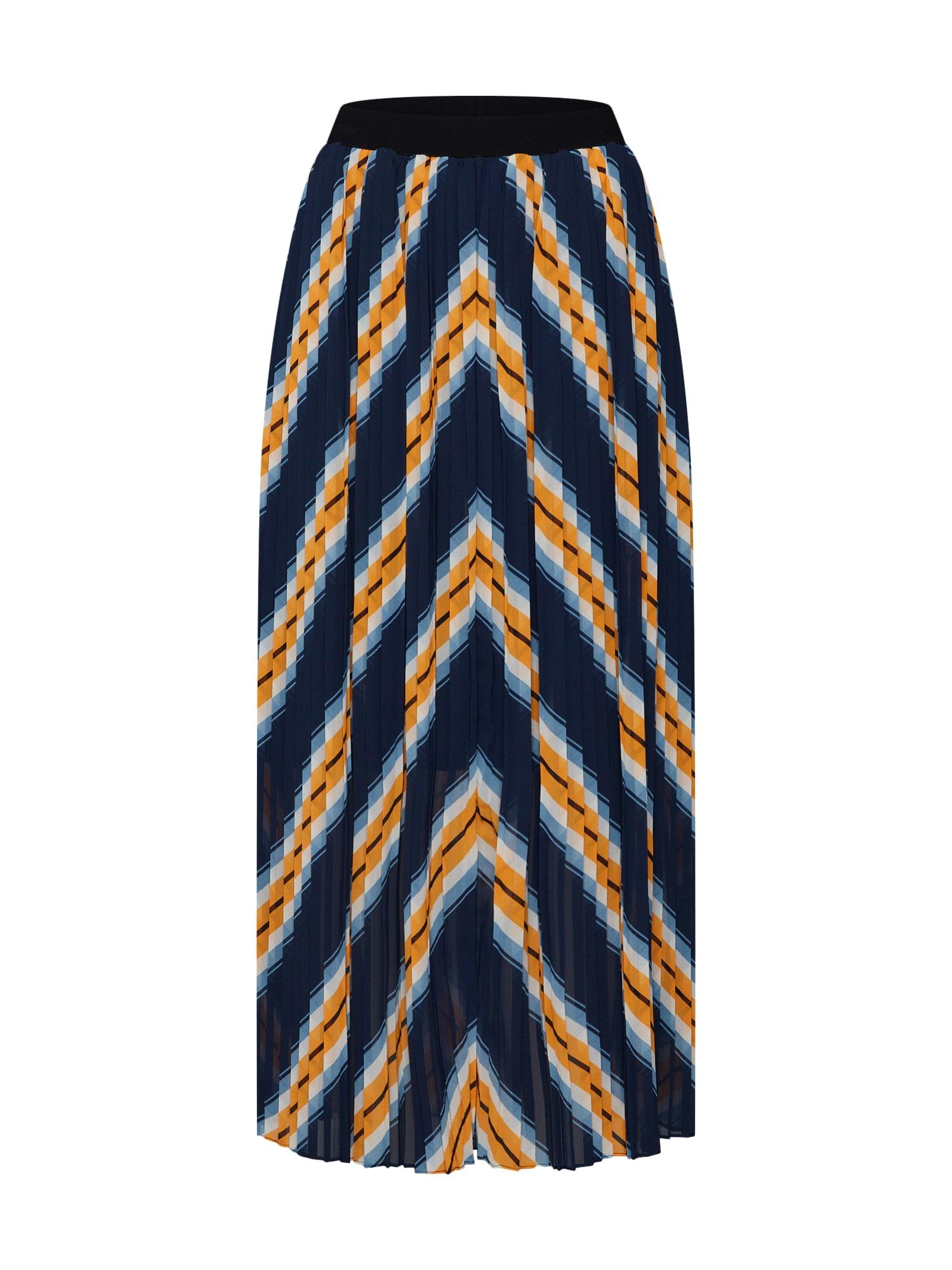 Sukně Line skirt námořnická modř žlutá bílá JUST FEMALE