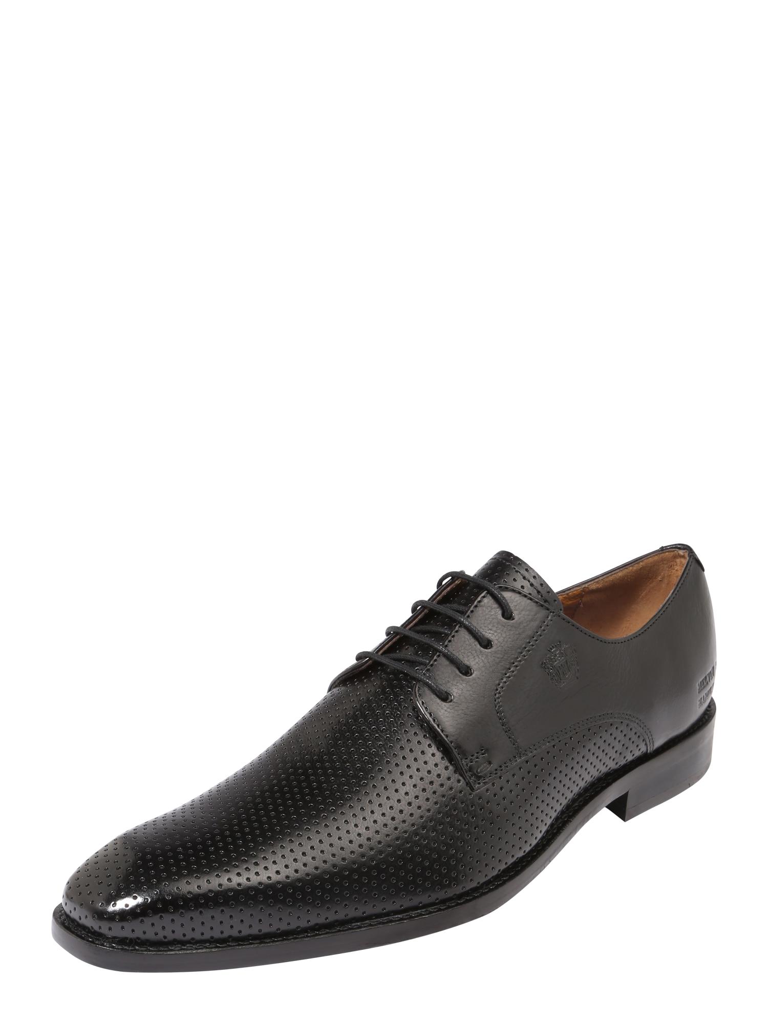 Šněrovací boty Martin 1 černá MELVIN & HAMILTON