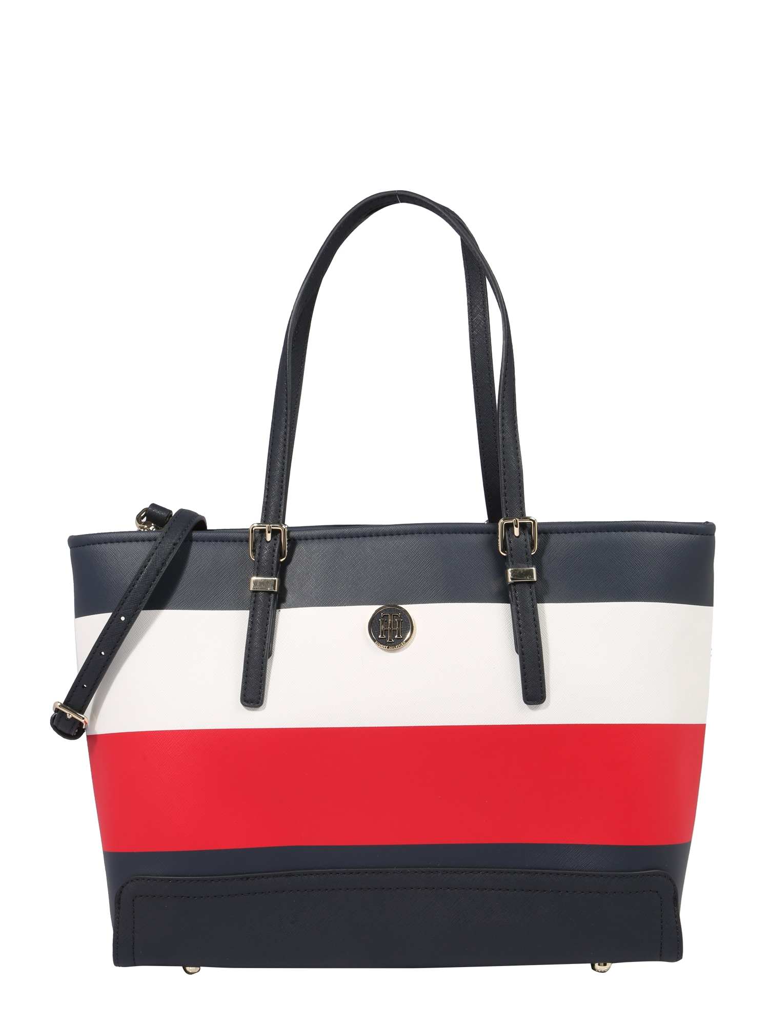 TOMMY HILFIGER, Dames Shopper 'HONEY MED', blauw / rood / wit