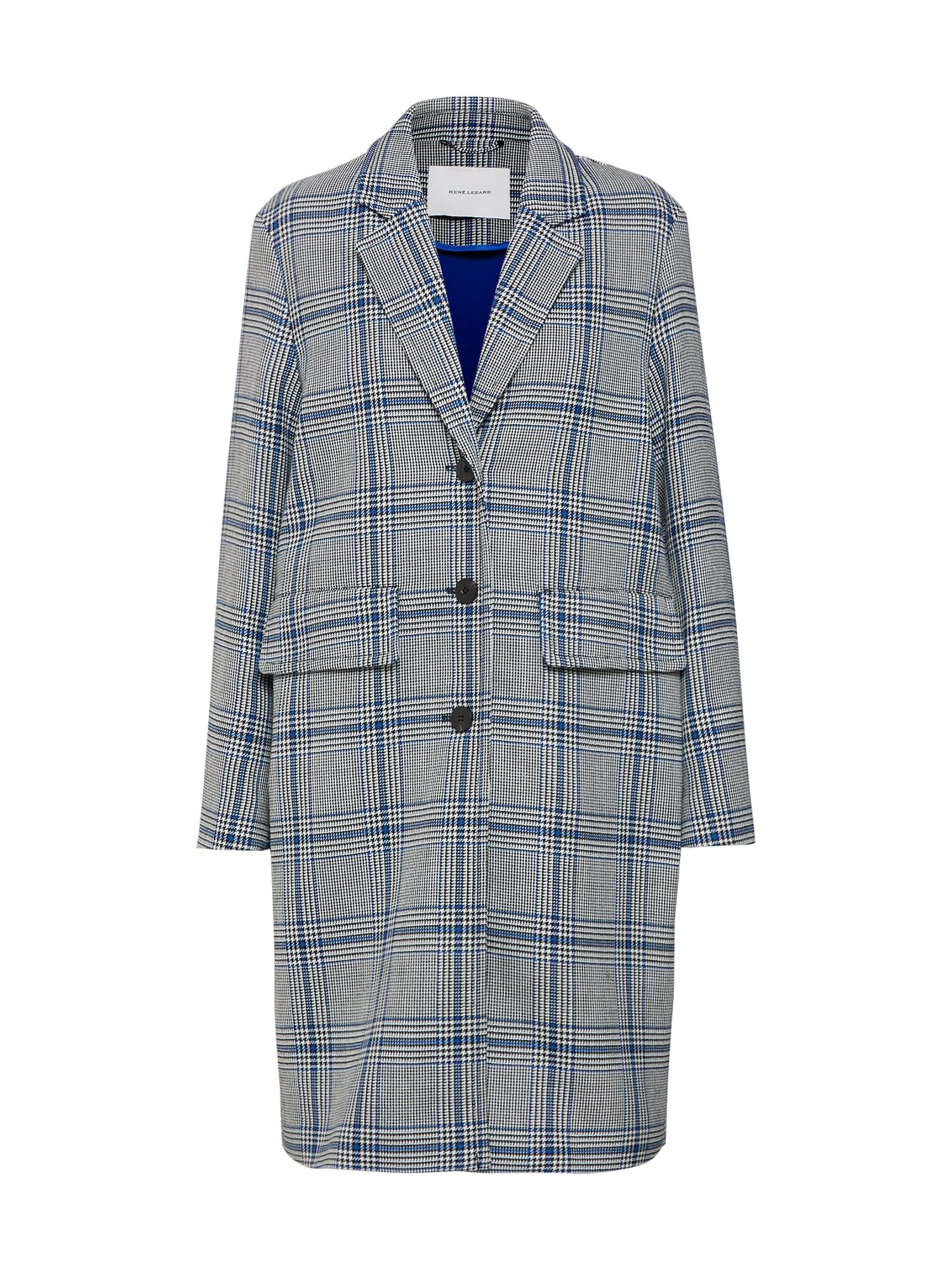 Přechodný kabát tmavě modrá šedá RENÉ LEZARD