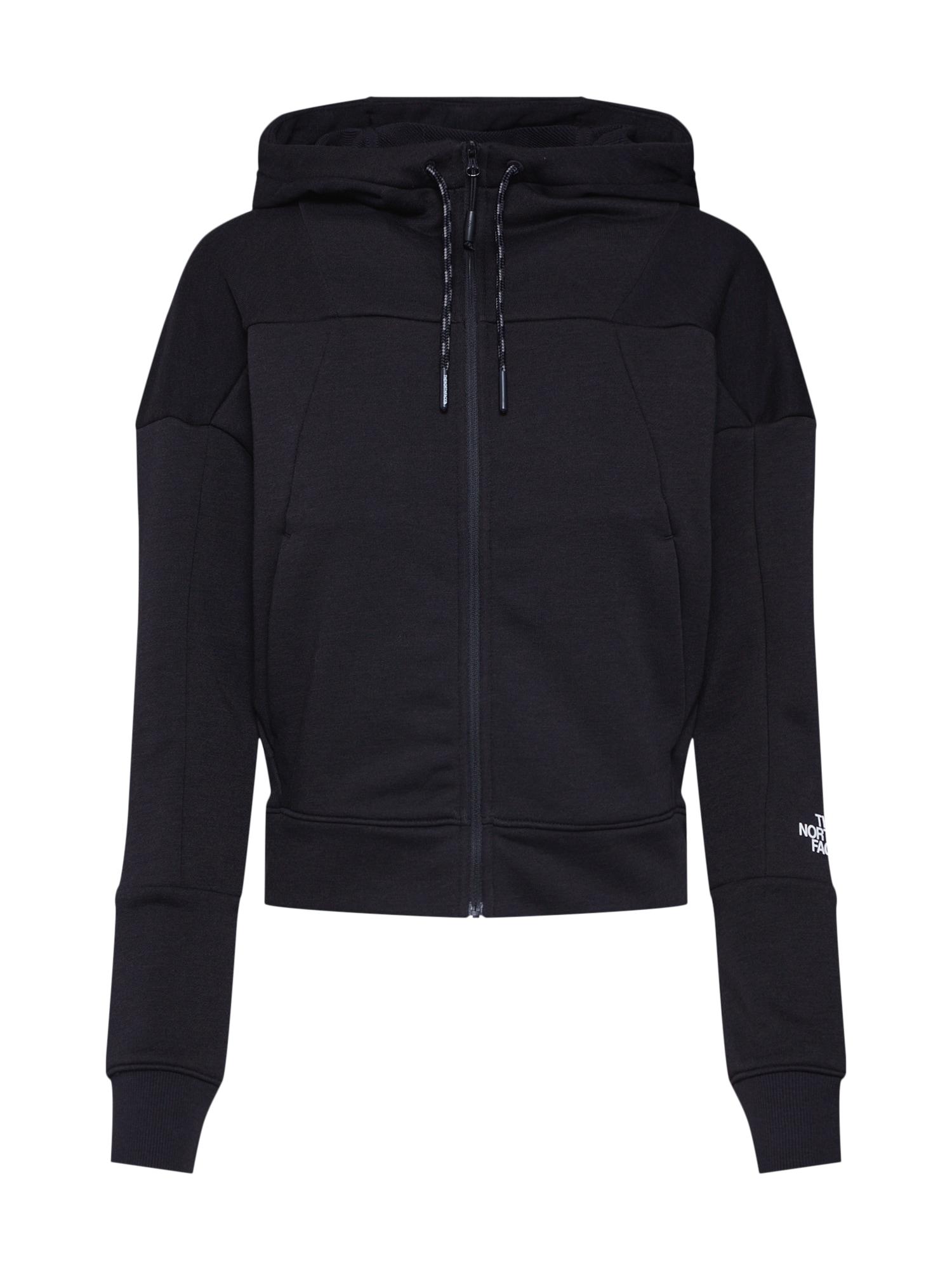 Mikina s kapucí Women's Light Fullzip Fleece Hood černá THE NORTH FACE