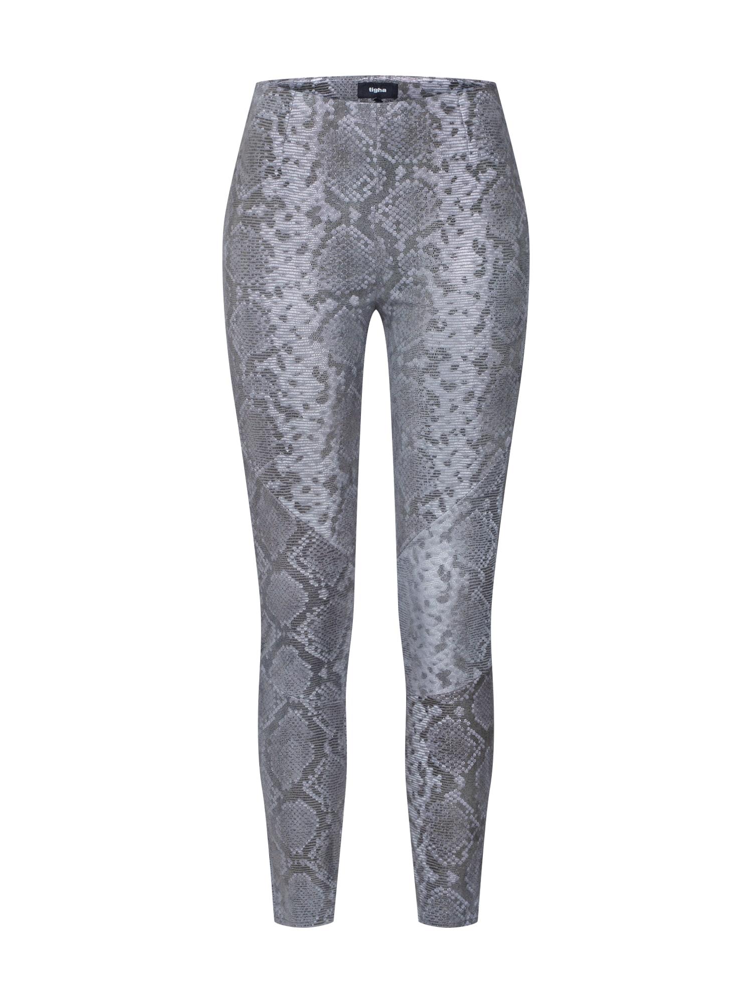 Kalhoty Nori Snake stříbrně šedá černá Tigha