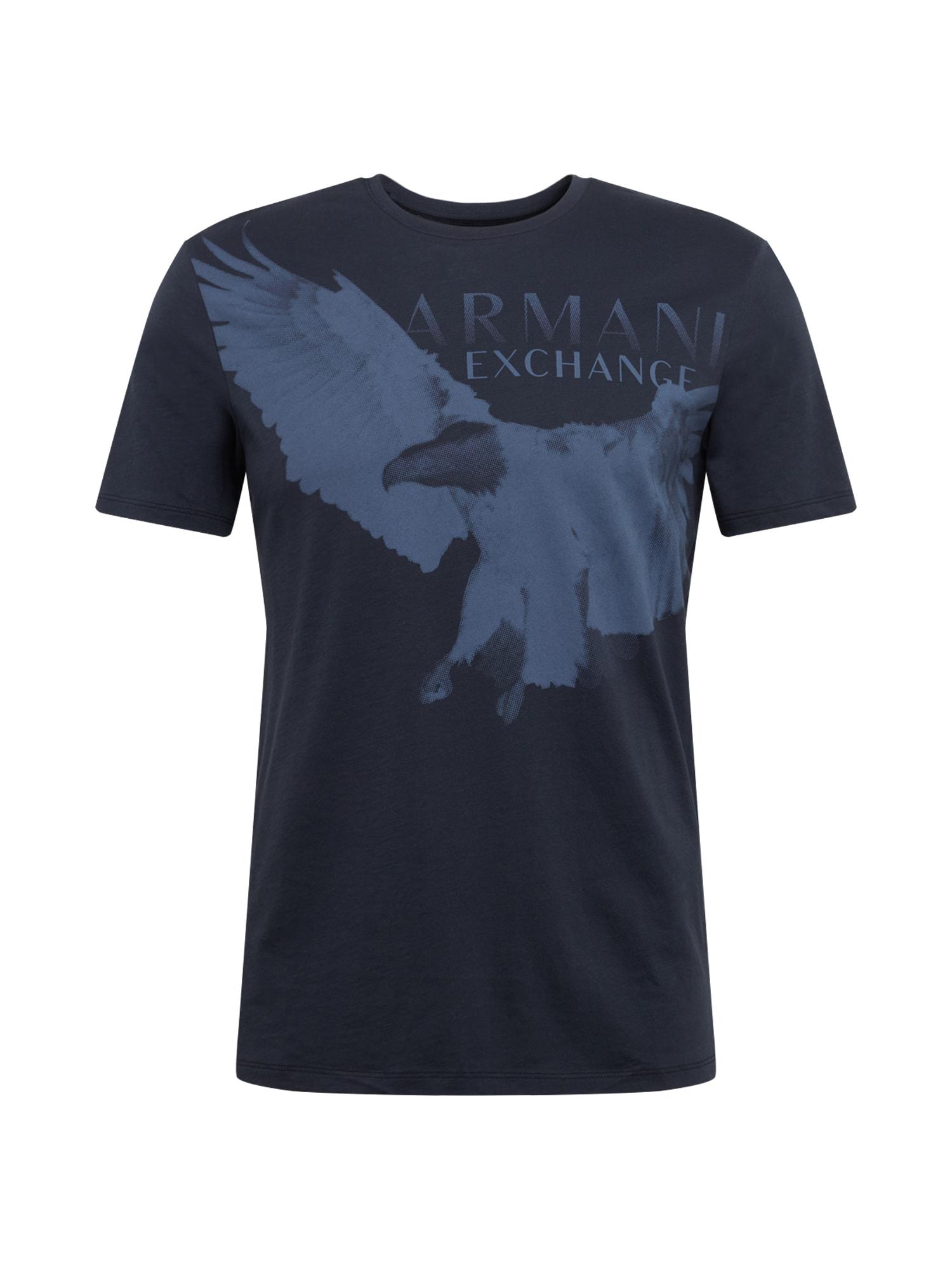 ARMANI EXCHANGE Tričko  námořnická modř