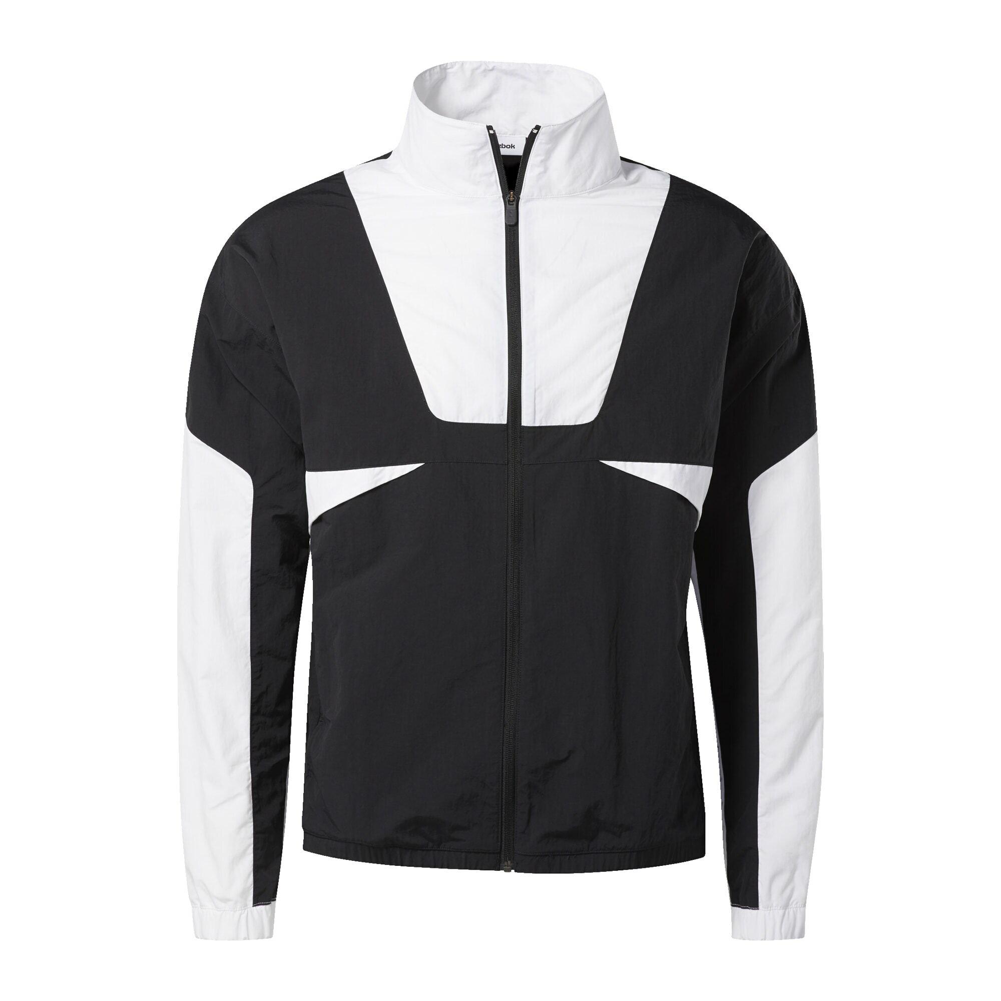 REEBOK Sportovní bunda  bílá / černá