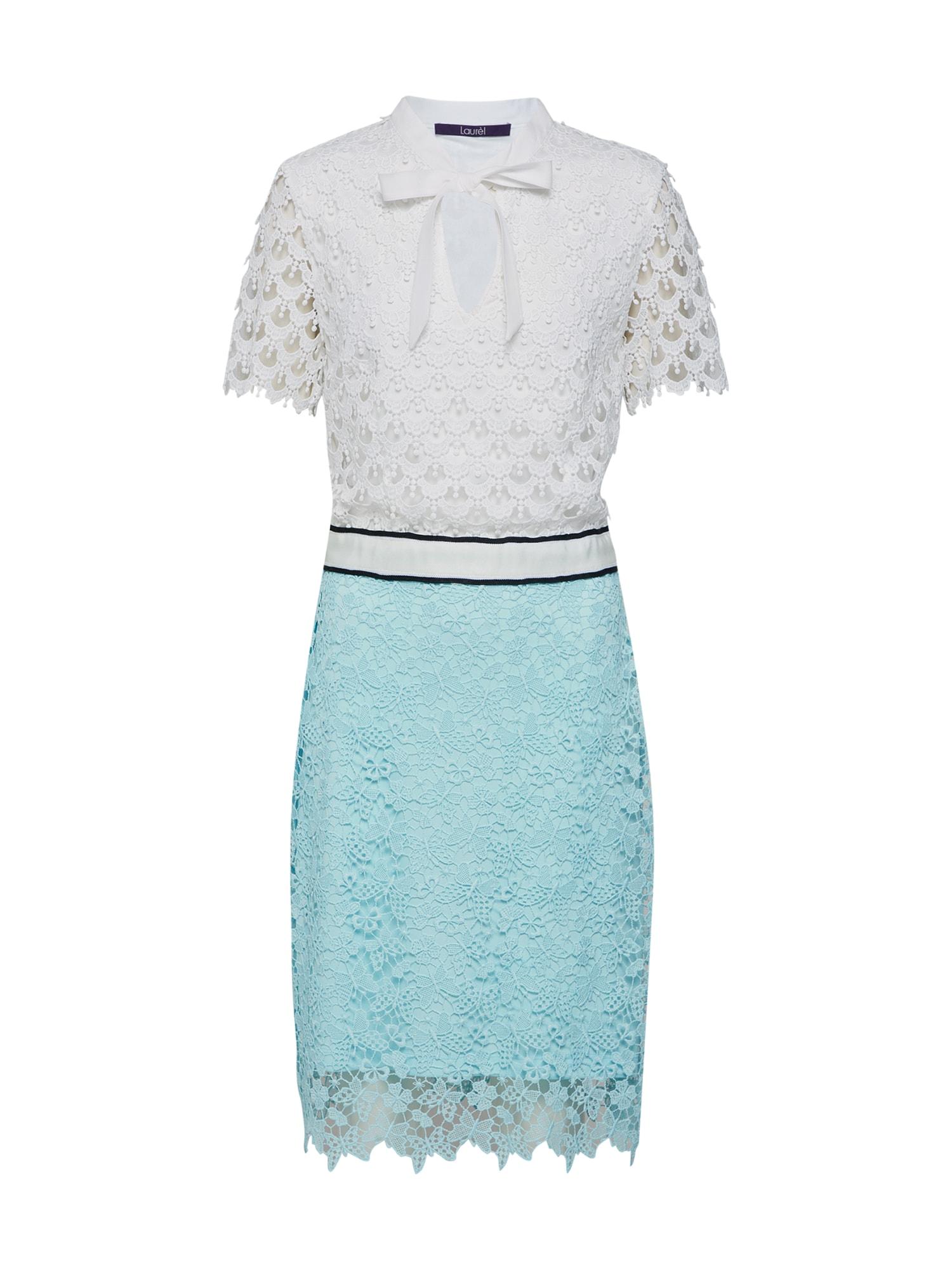 Šaty 11039 modrá bílá LAUREL