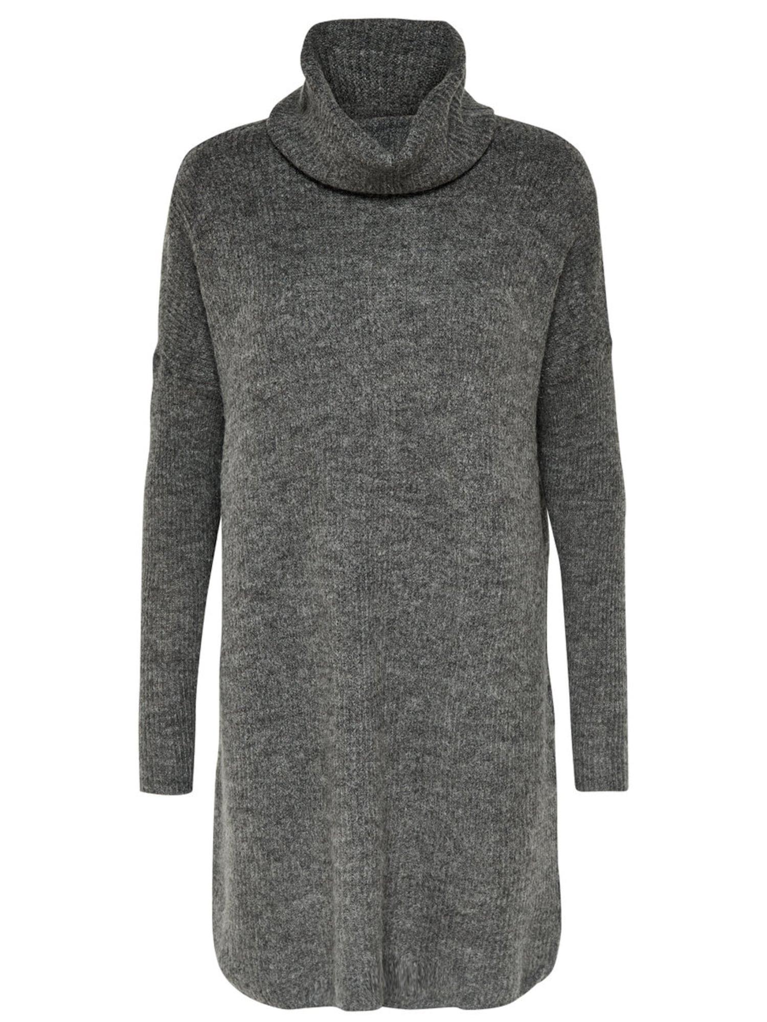 Úpletové šaty tmavě šedá ONLY